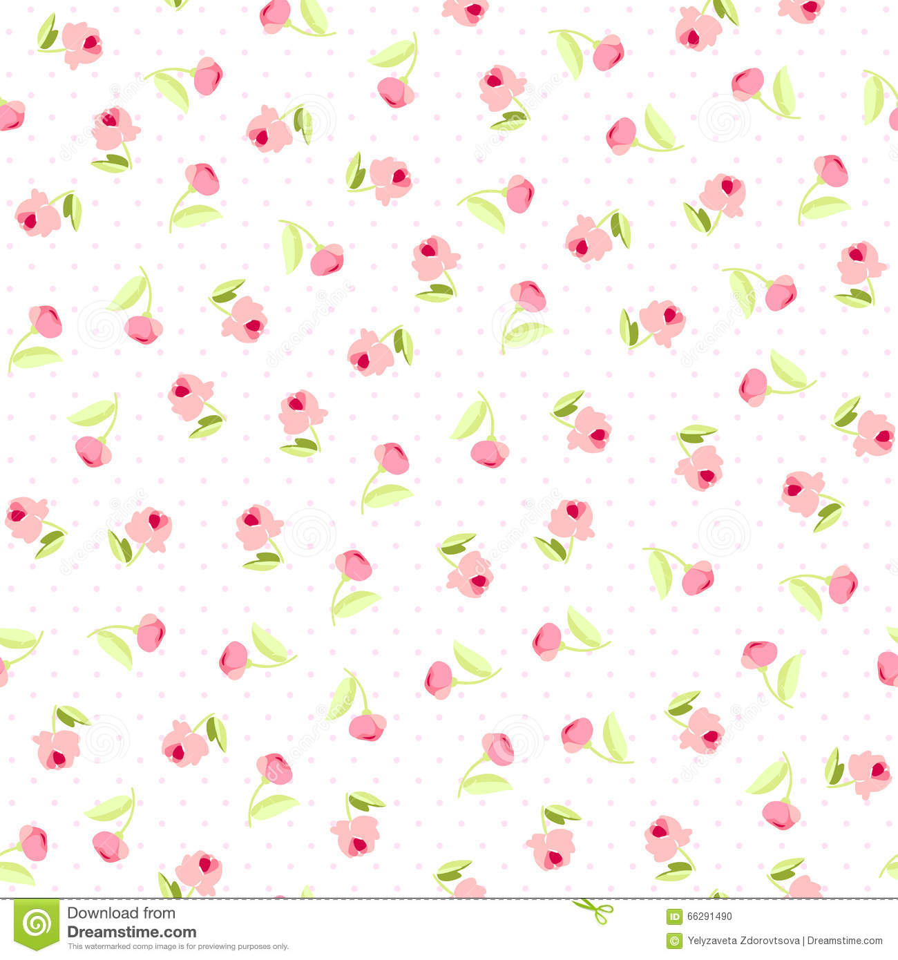 Seamless Floral Pattern With Pink Roses Stock Vector