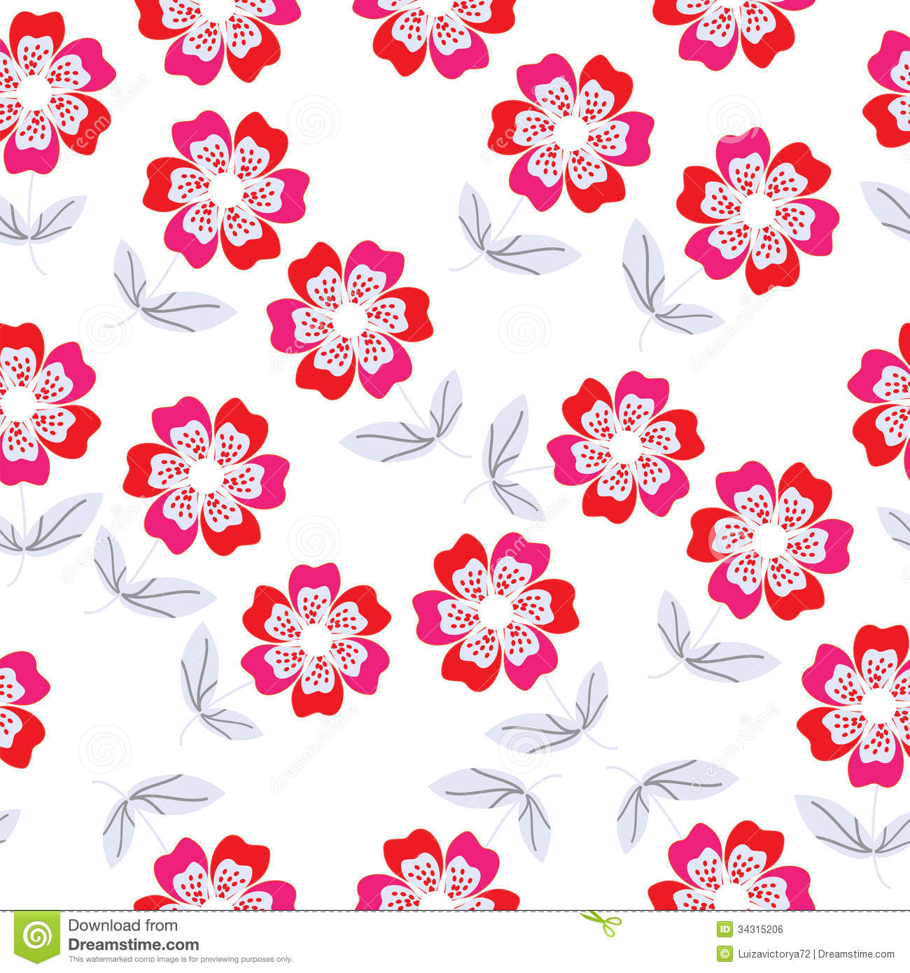 Seamless floral pattern stock vector illustration of contour 34315206 seamless floral pattern mightylinksfo