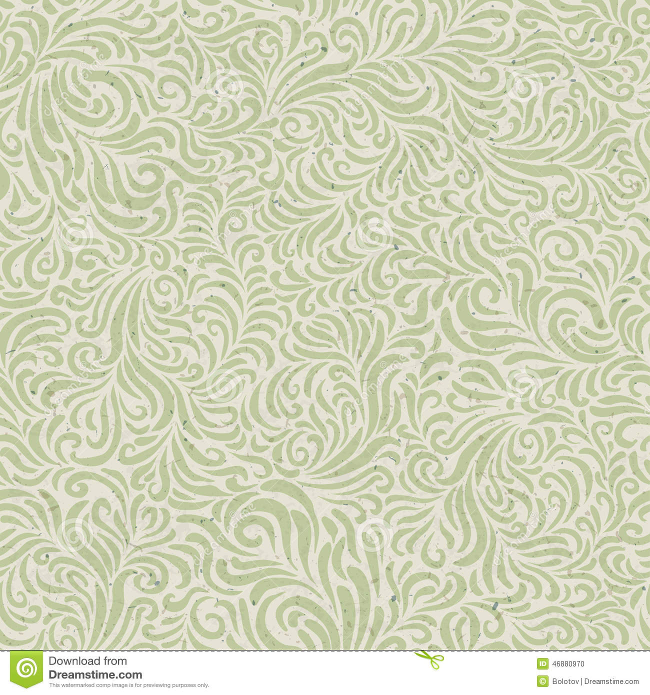 Seamless Floral Pattern On Recycled Paper Texture Stock ...