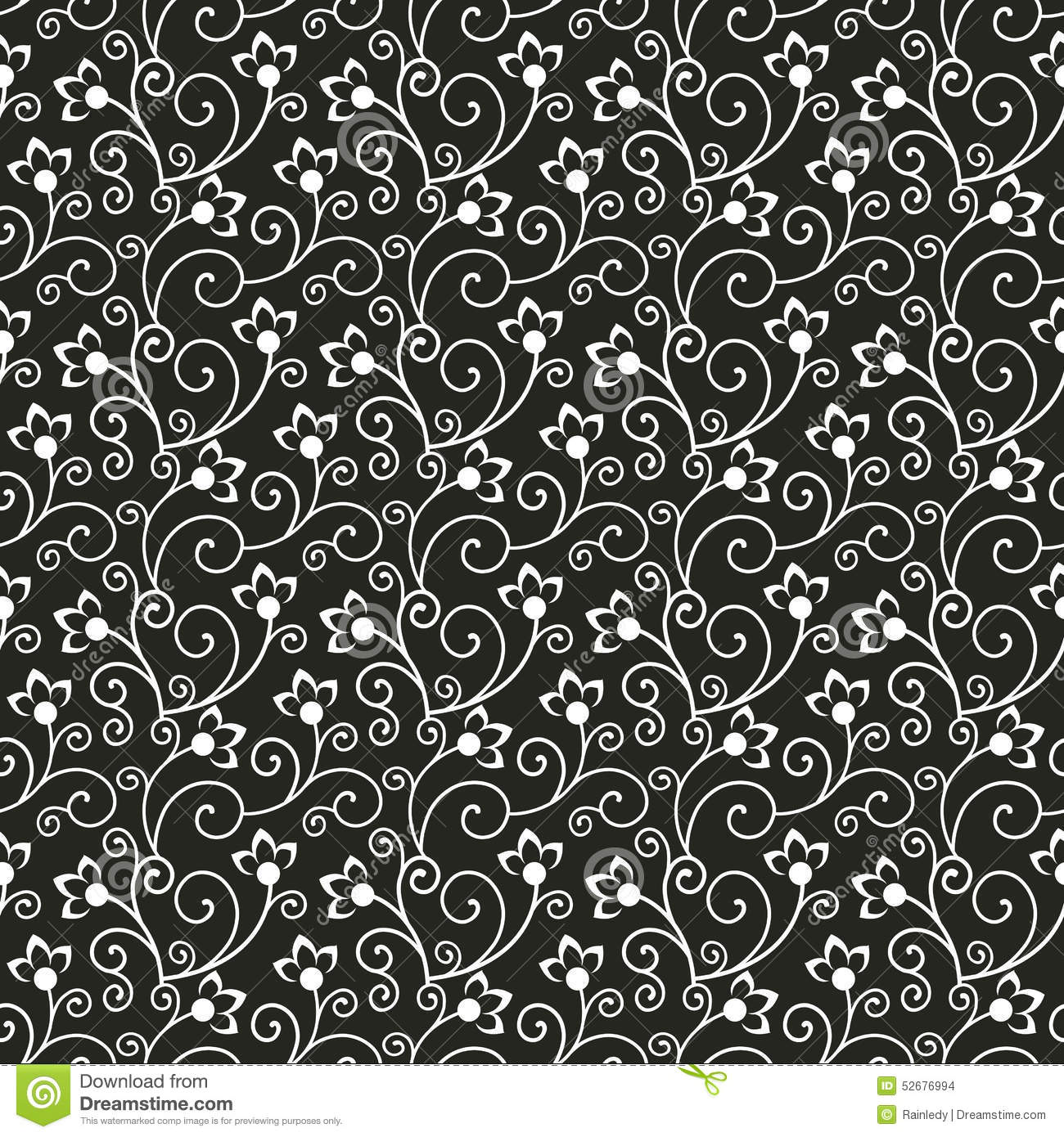 Seamless Floral Pattern Vector Background Stock Vector
