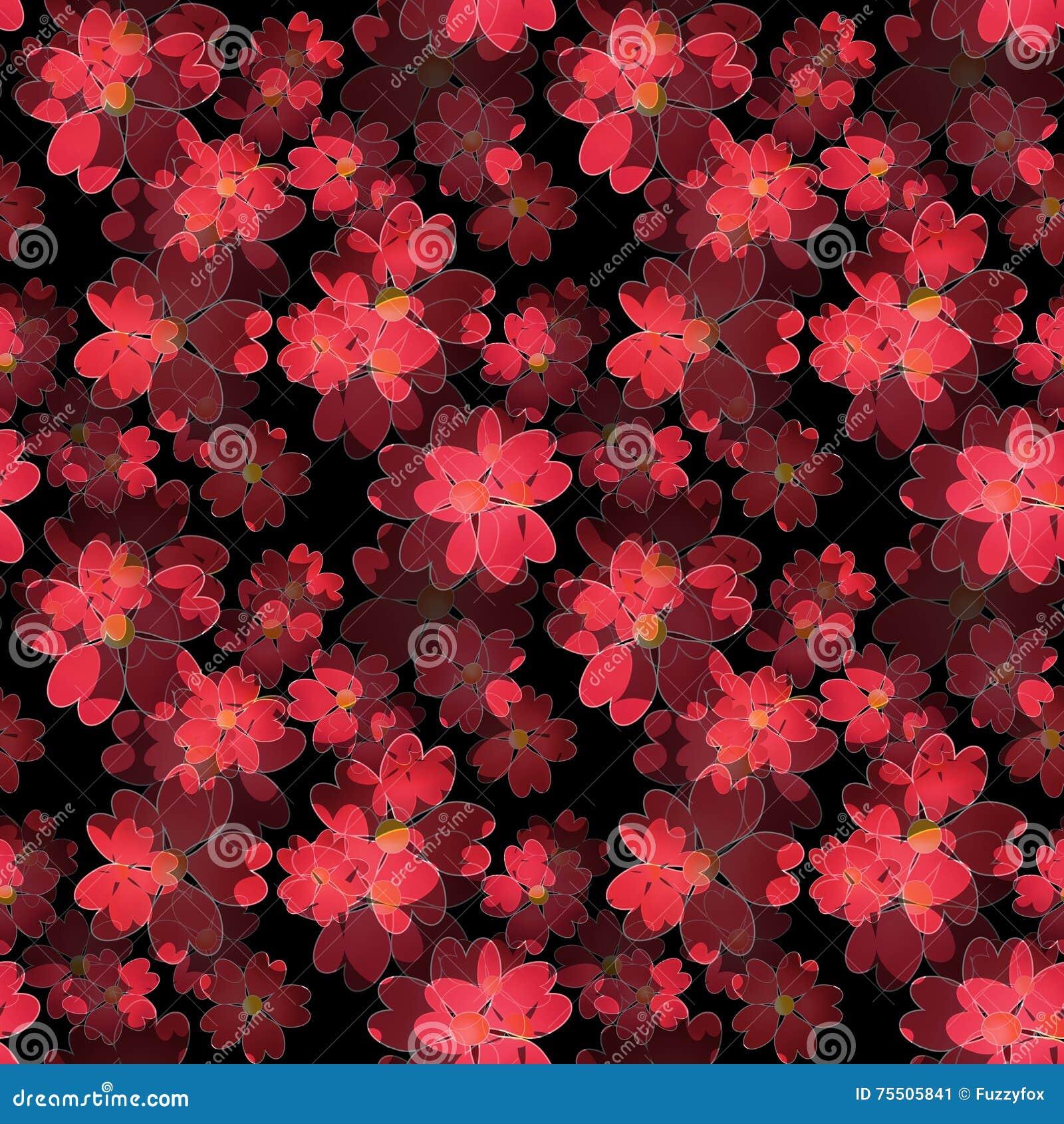 Seamless Floral Pattern Wallpaper Seamless Flower Pattern