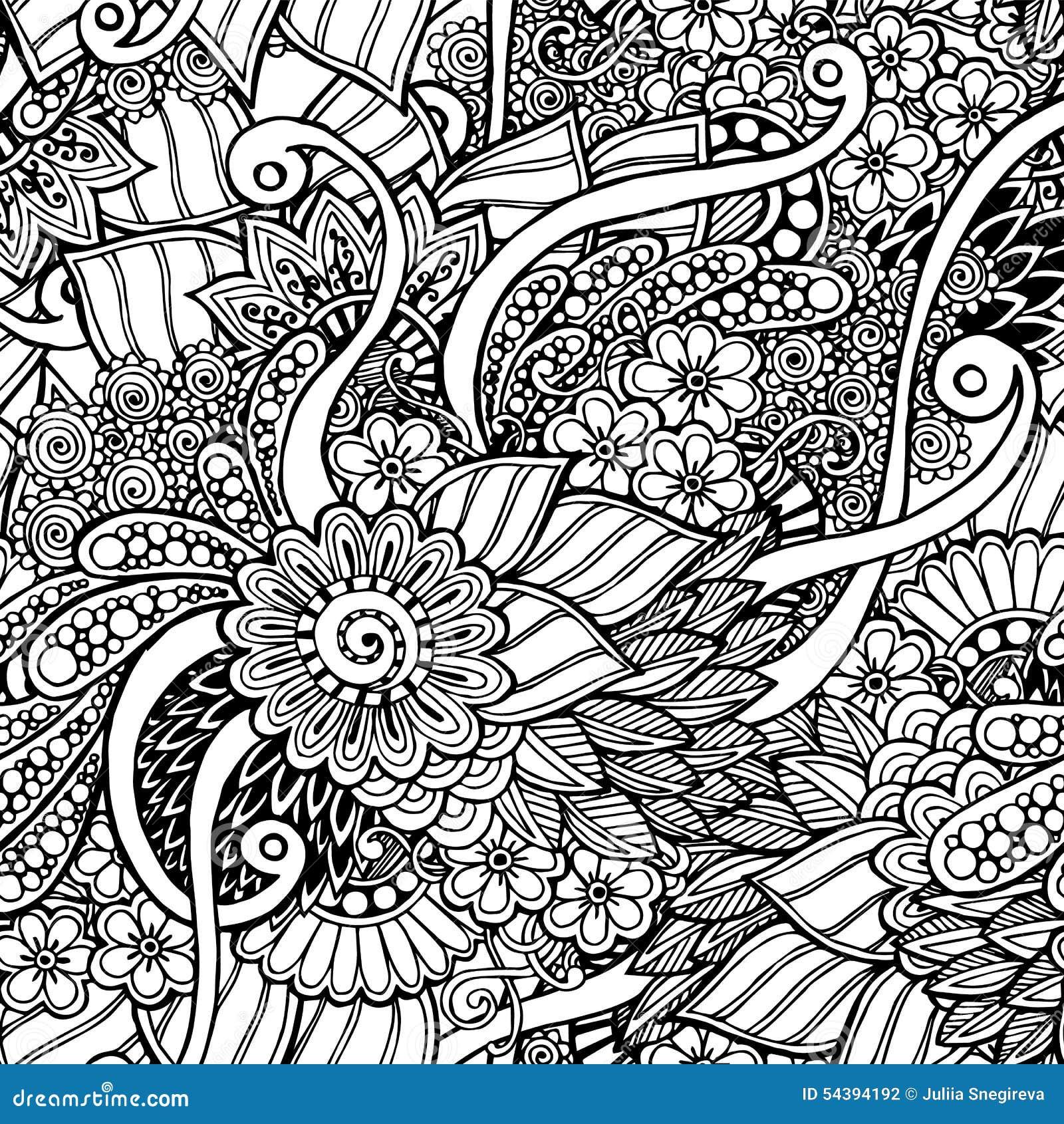 Http thumbs dreamstime com z seamless floral retro doodle black