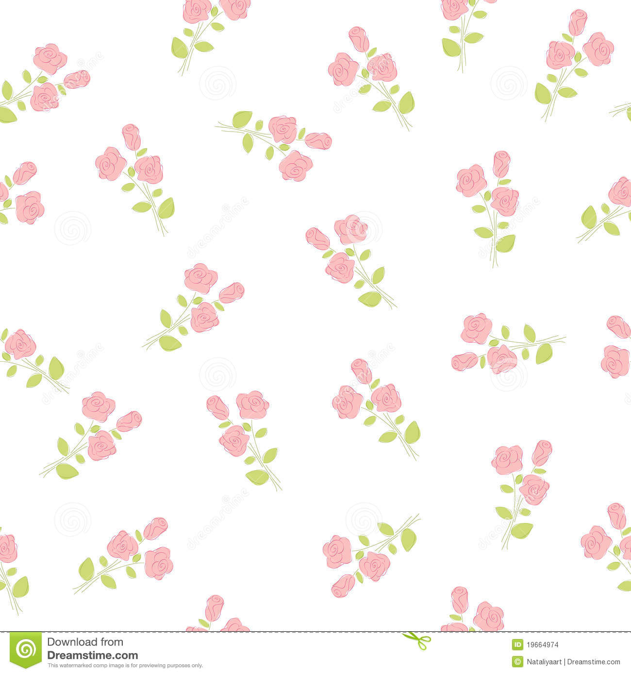 Seamless Floral Wallpaper Stock Images Image 19664974