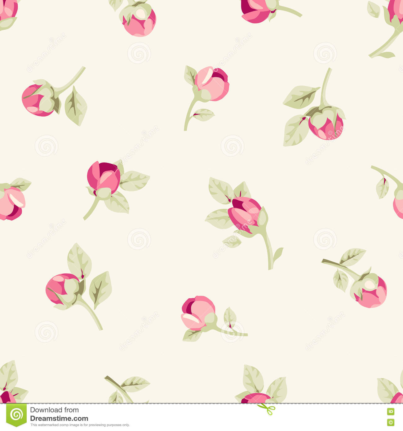 Seamless Floral Wallpaper Stock Vector Illustration Of Garden