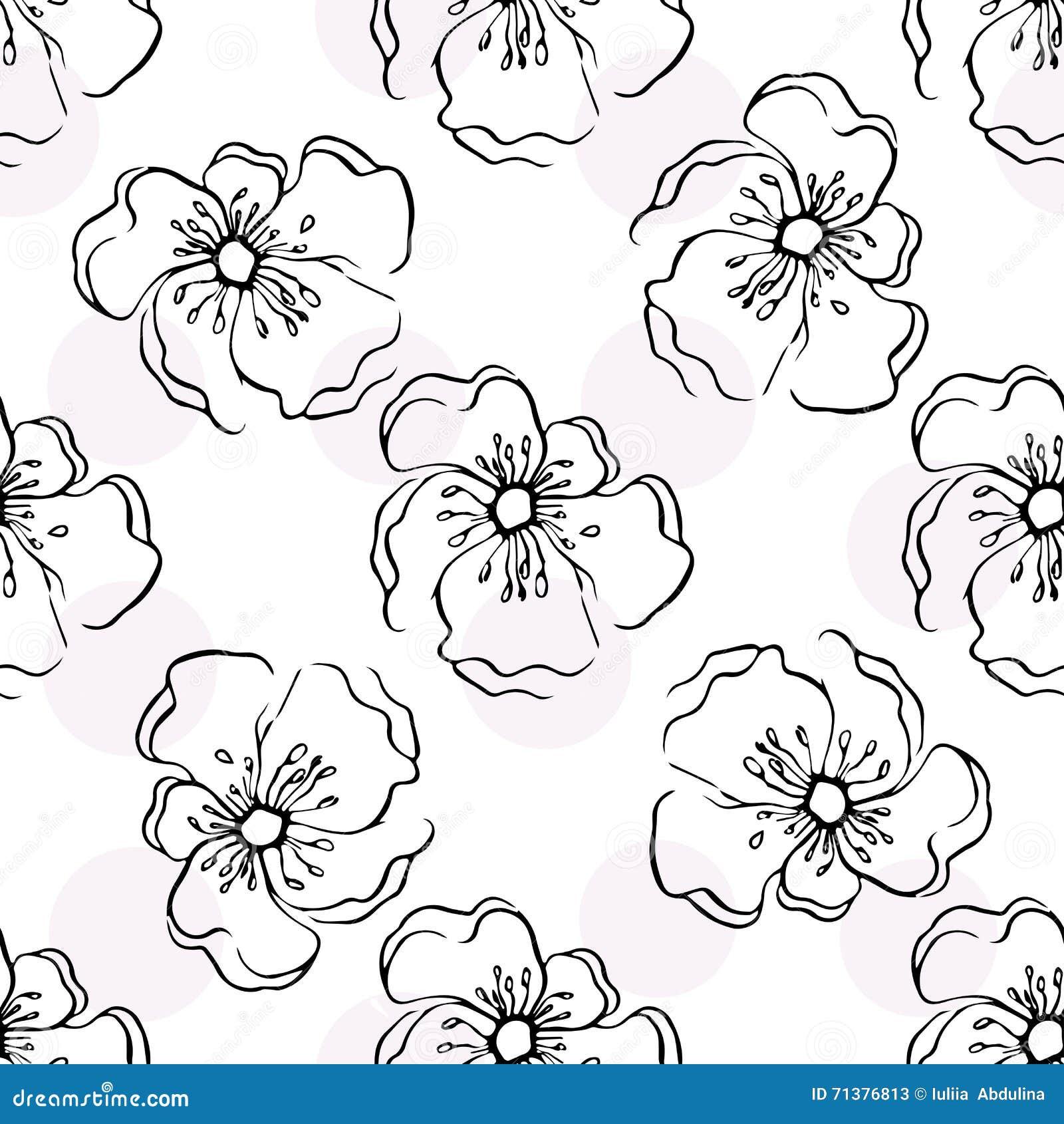 Seamless Floral Wallpaper Stock Illustration Illustration Of