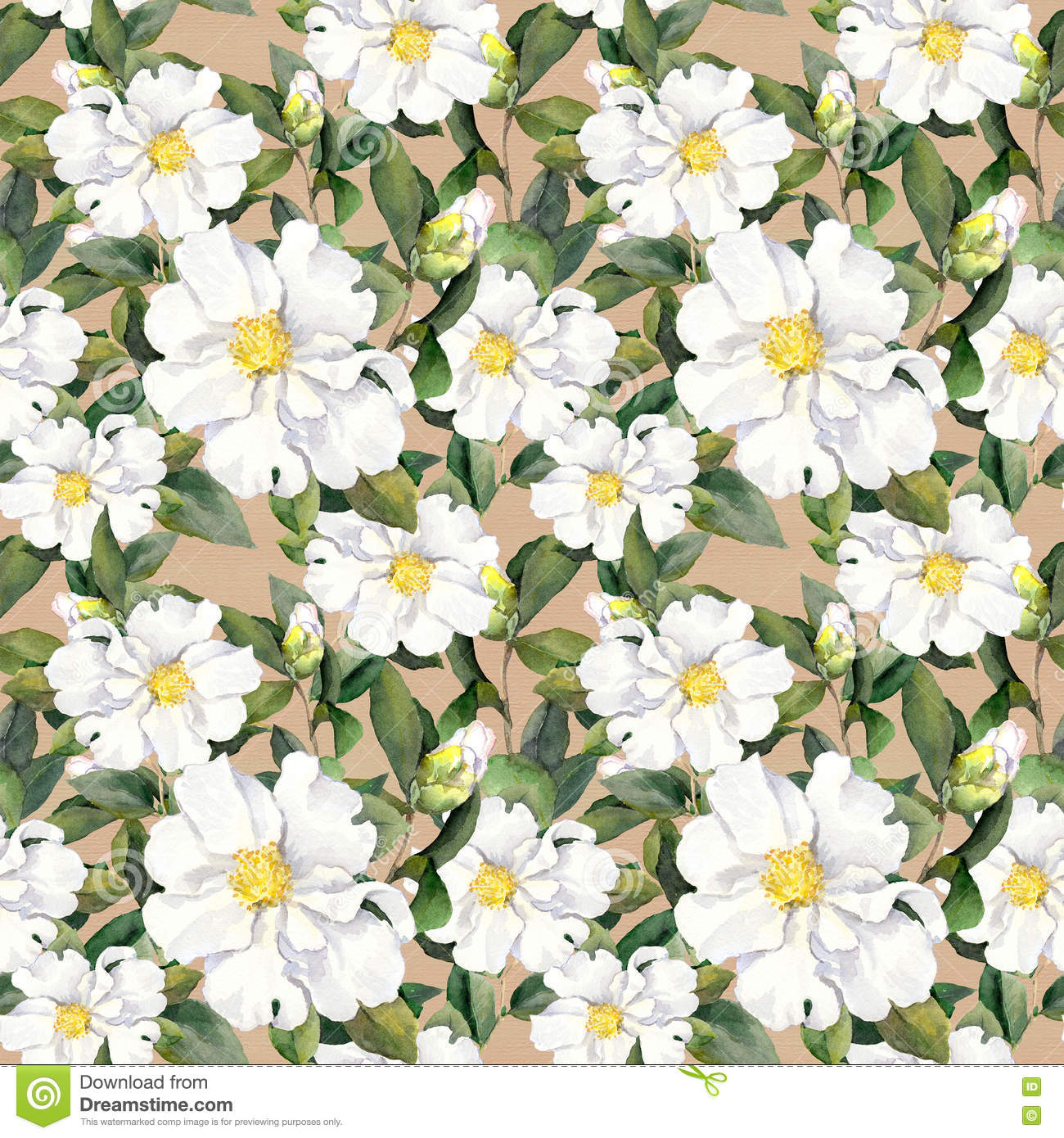 Magnolia Home Wallpaper Seamless Floral Wallpaper With White Flowers Magnolia