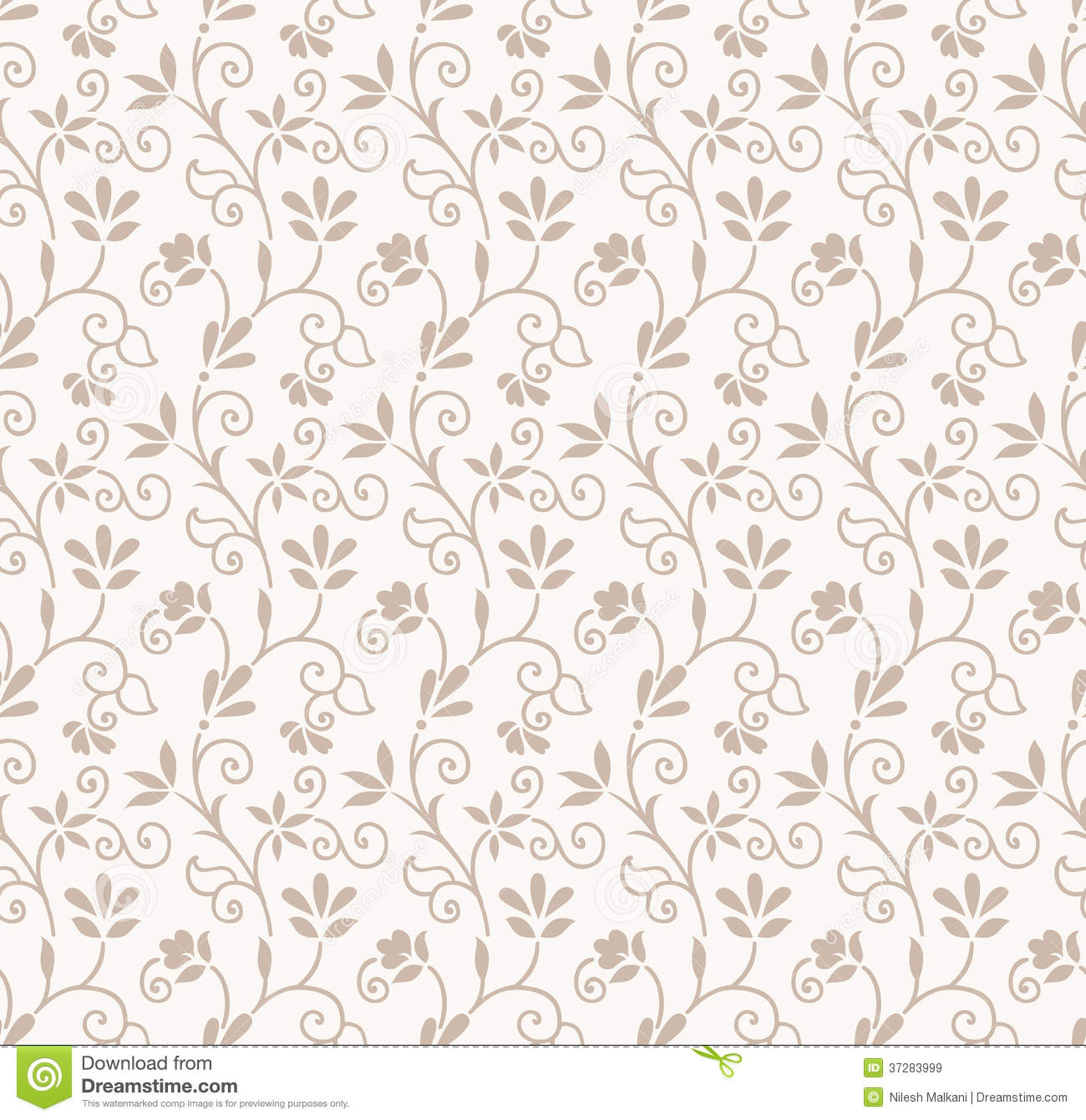Seamless Floral Wedding Card Background Royalty Free Stock