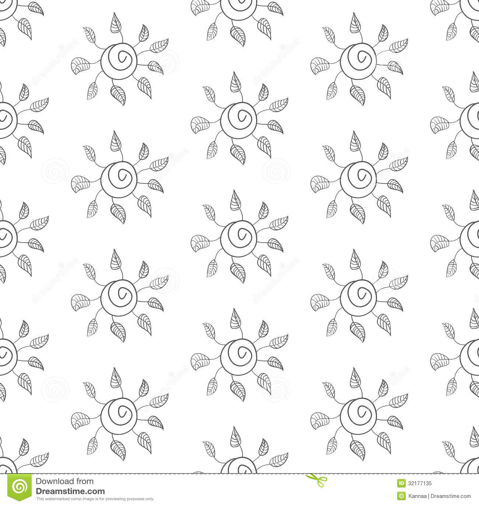 Seamless flower background black and white stock vector seamless flower background black and white mightylinksfo