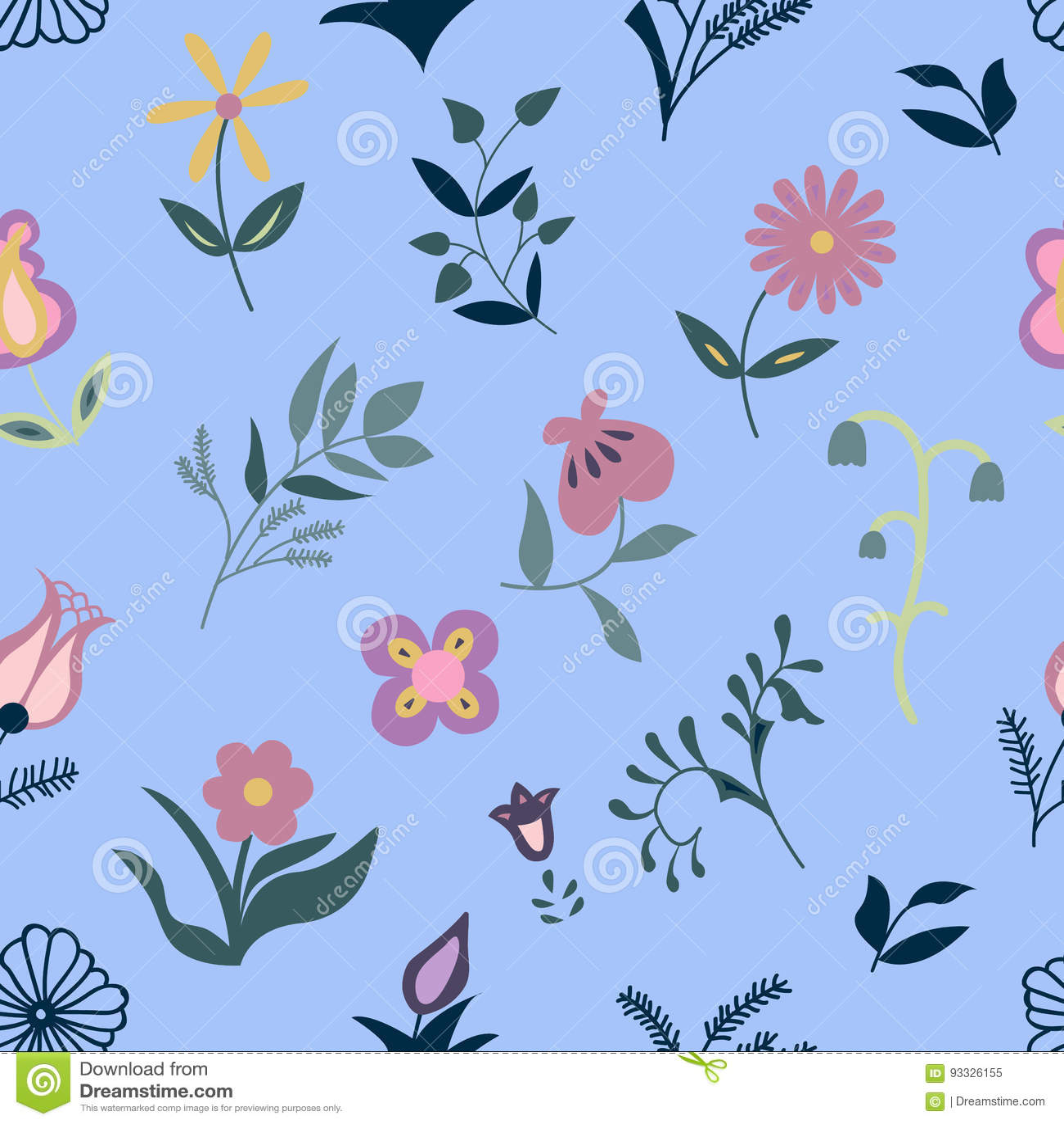 Seamless Flower Pattern Stock Illustration Illustration Of Garden