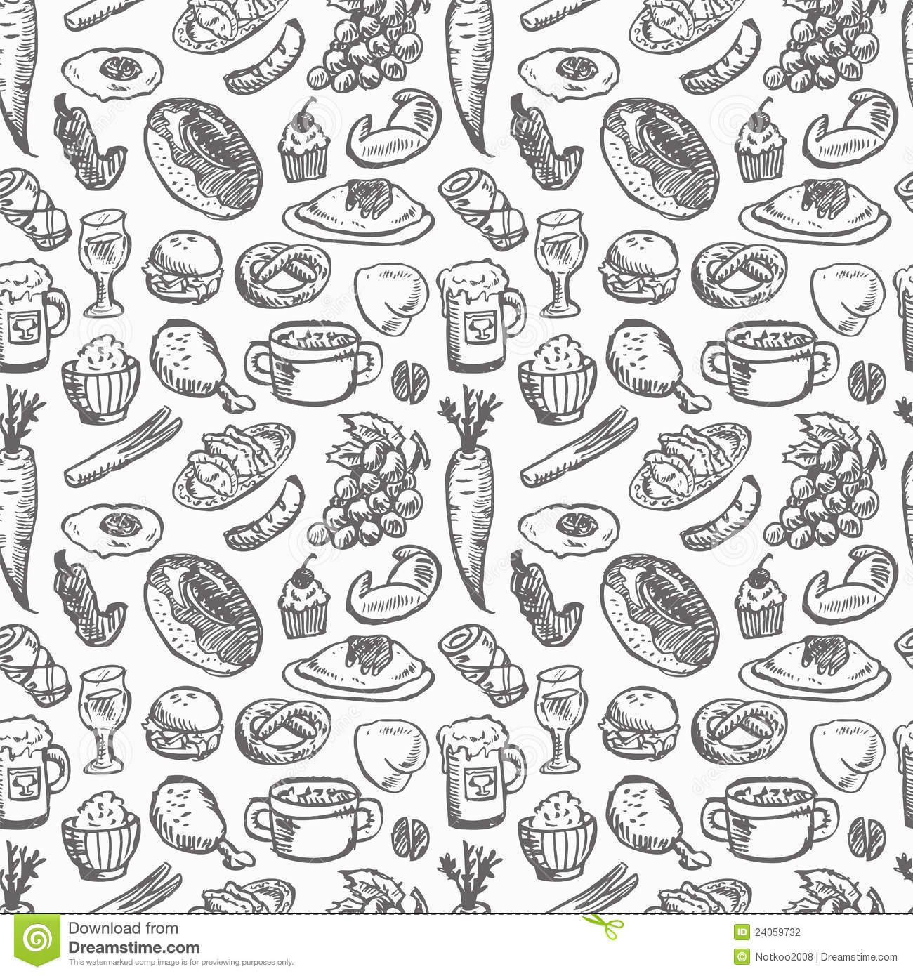 Group Of Background Seamless Food