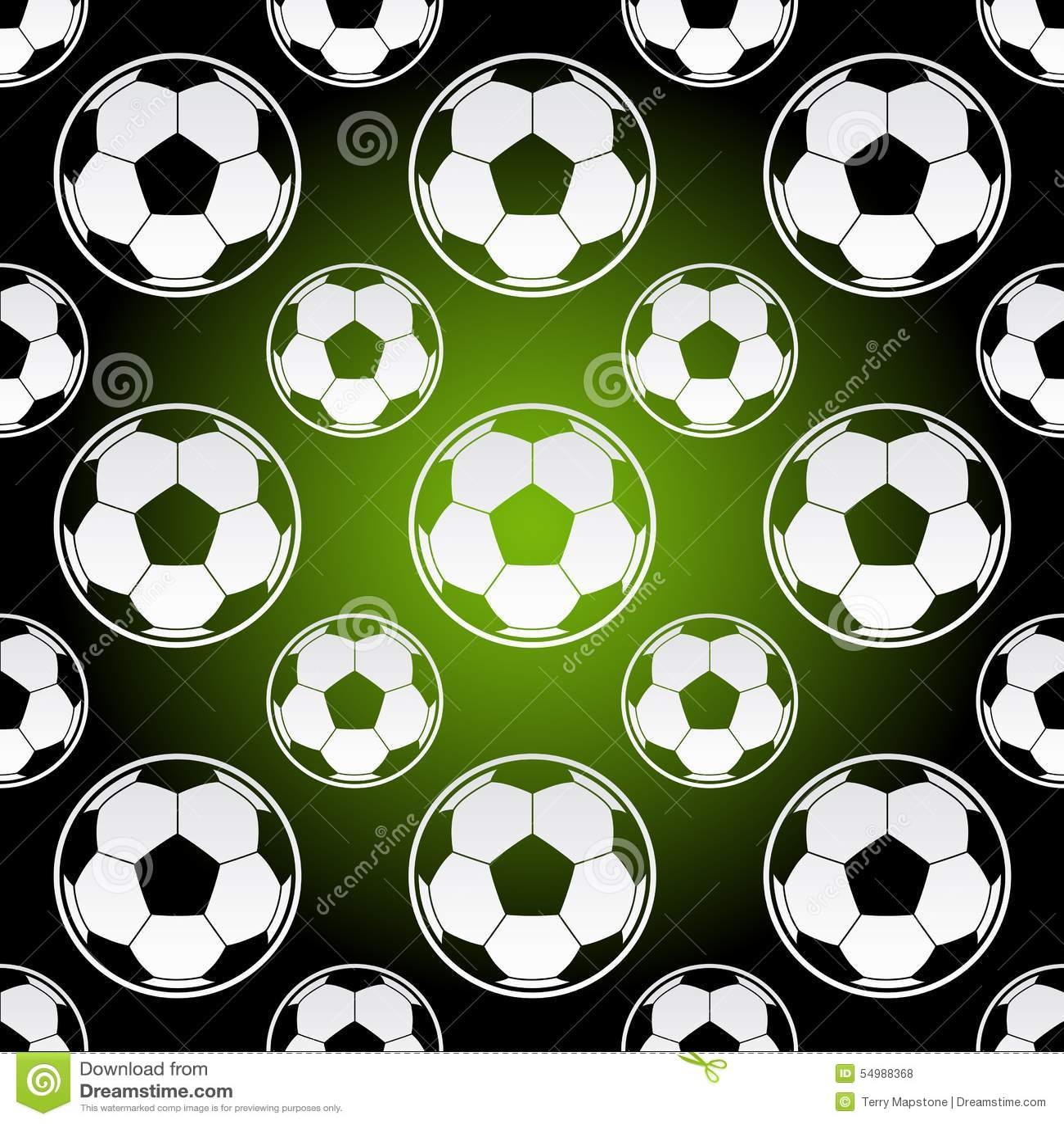Seamless Football Soccer Balls Stock Vector