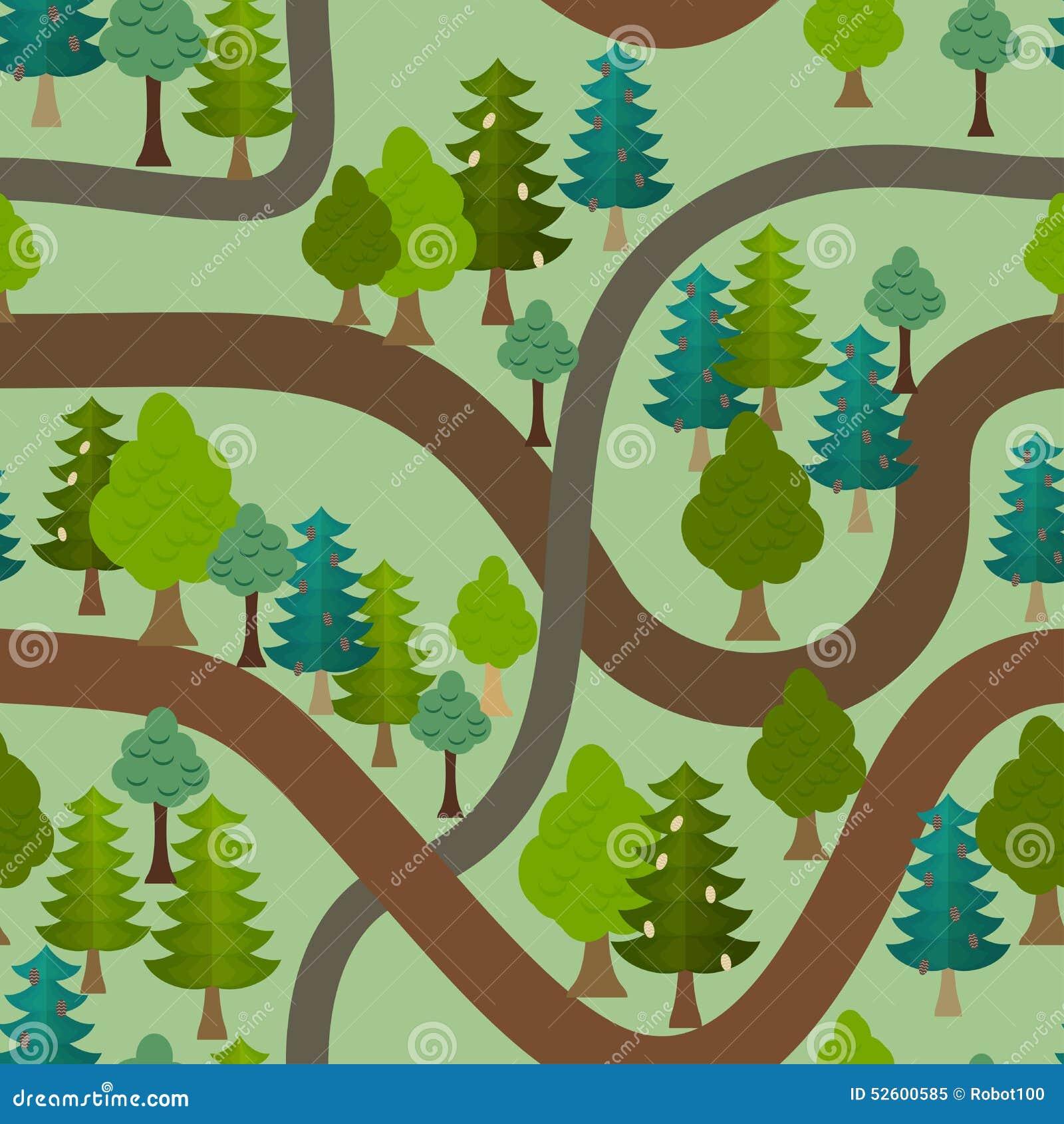 Pathway Christmas Trees