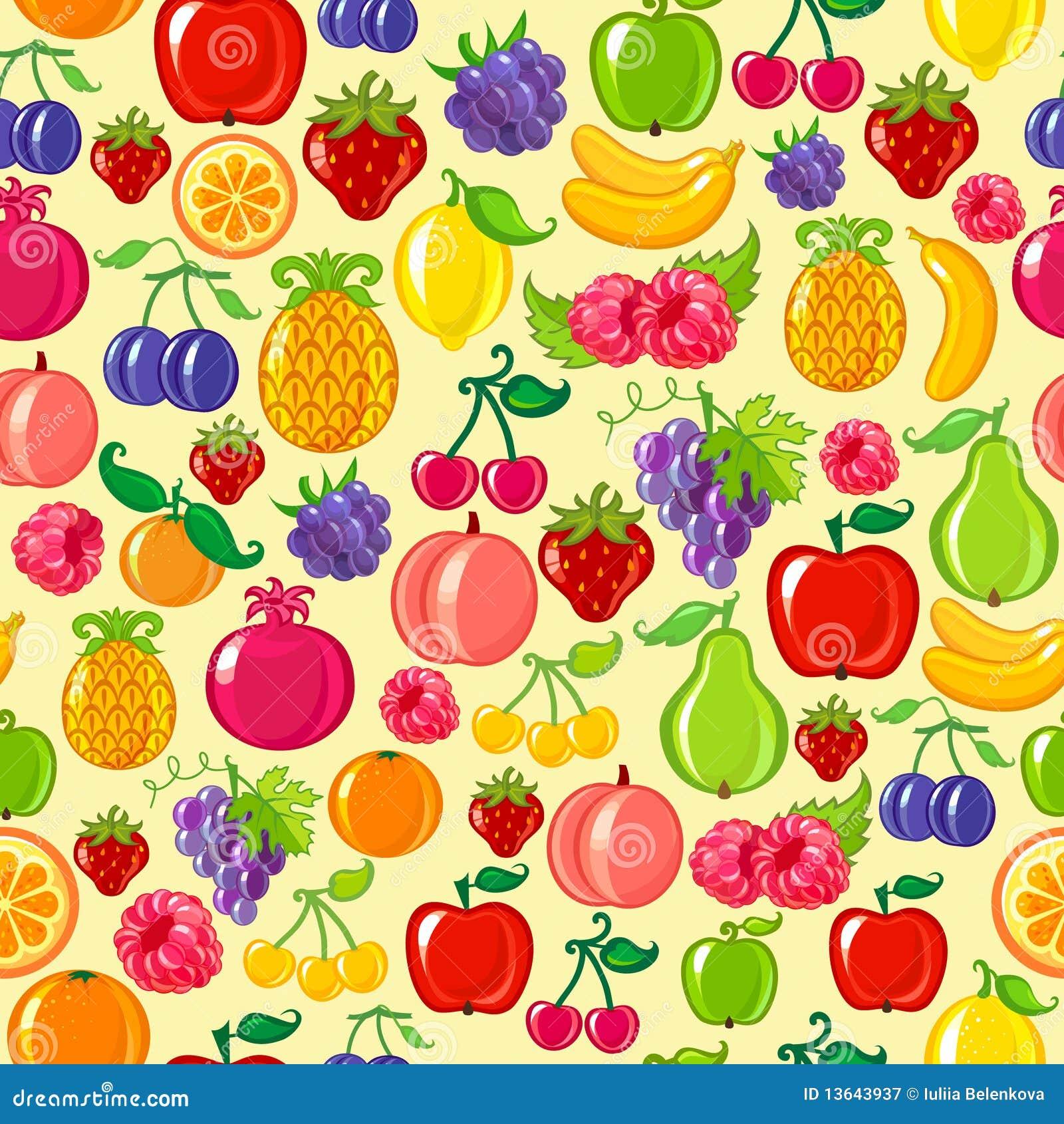 Seamless Fruit Background Stock Vector Illustration Of Fruit