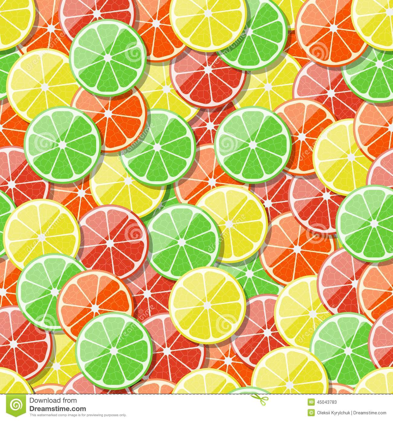 Seamless Fruit Pattern Background. Vector Illustration ...