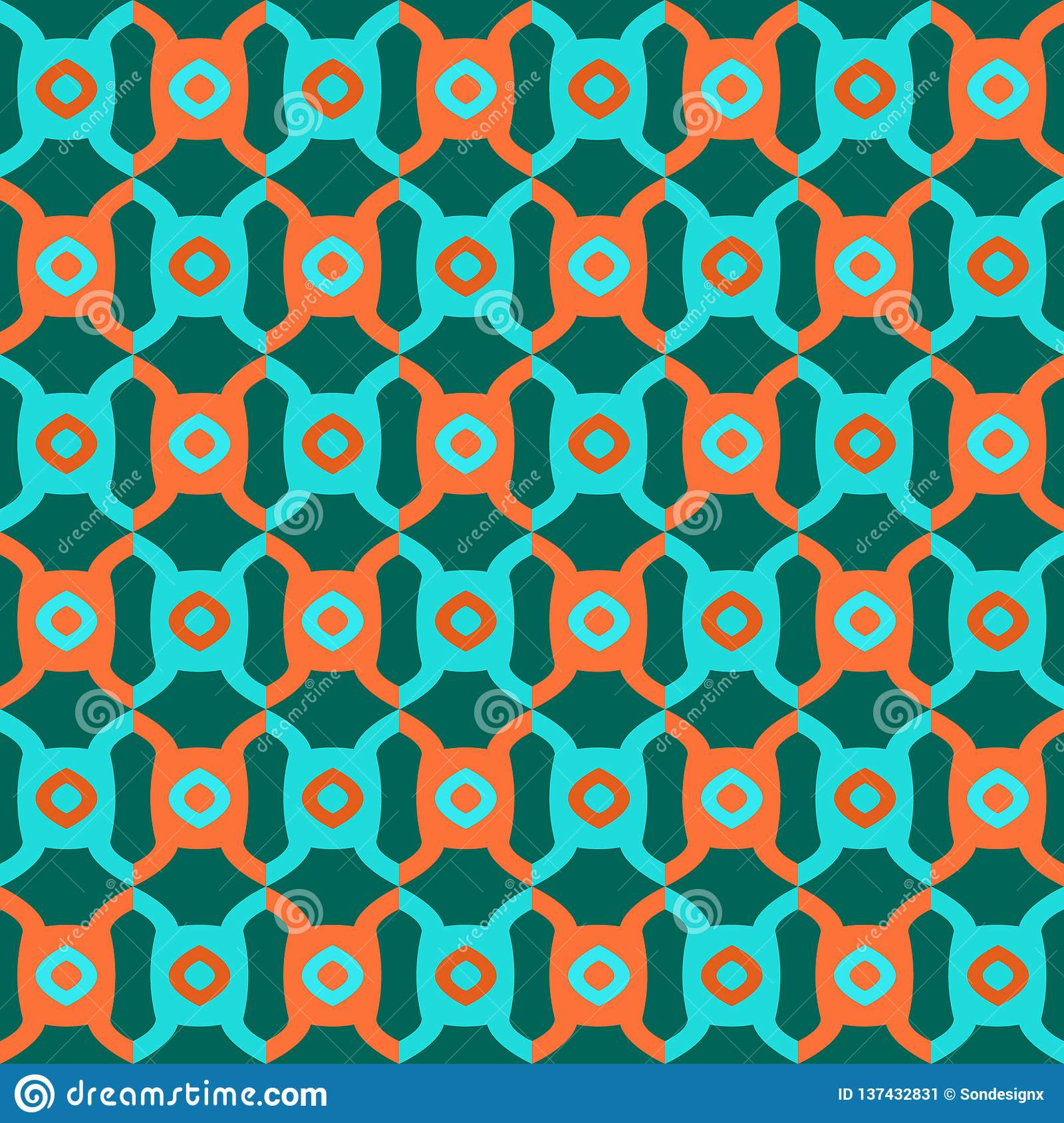 Seamless Geometric Abstract Pattern Vector Background