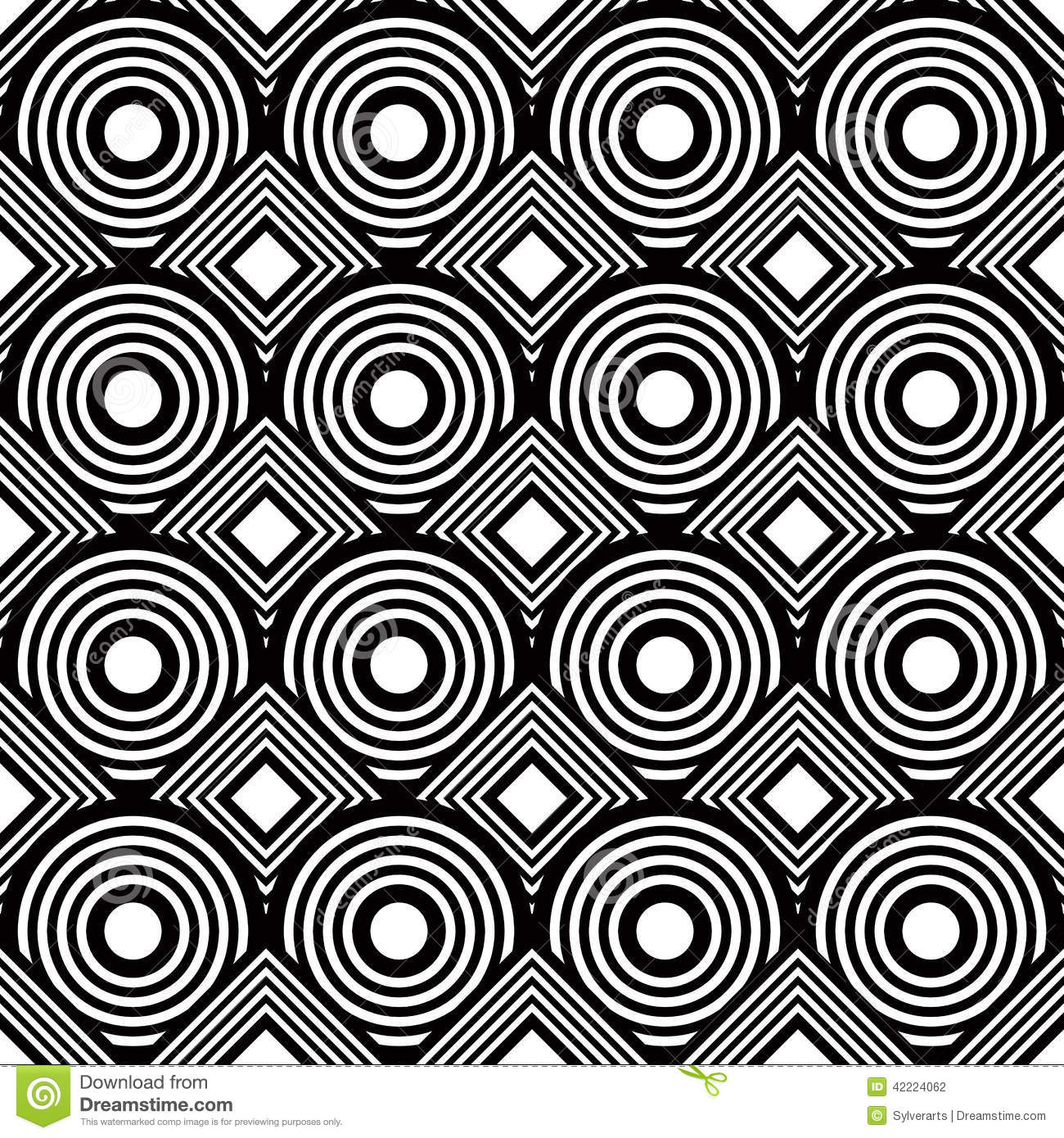 Seamless Geometric Background, Simple Black And White ...