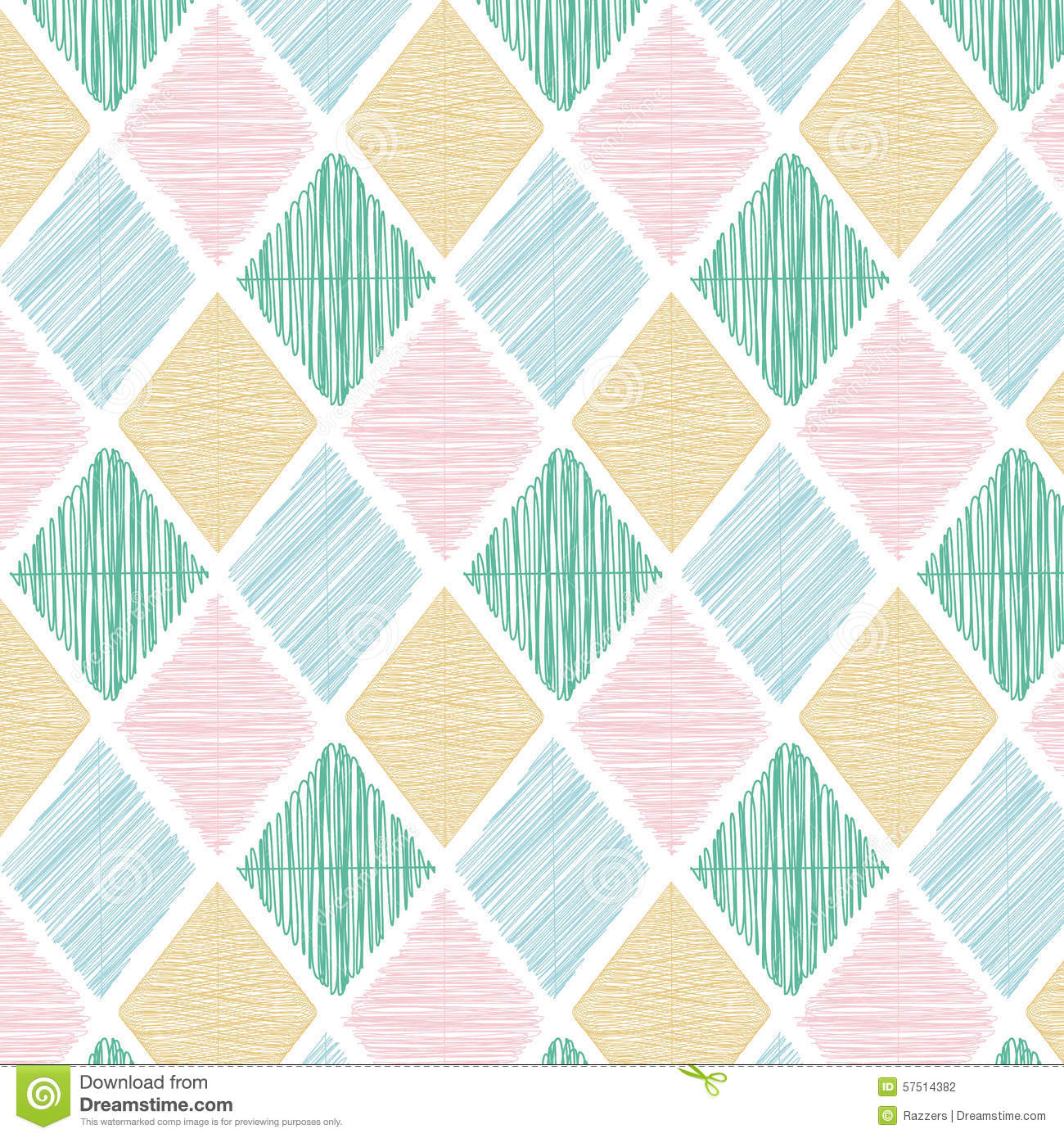 Seamless geometric color tile vector pattern background for Wallpaper you can color