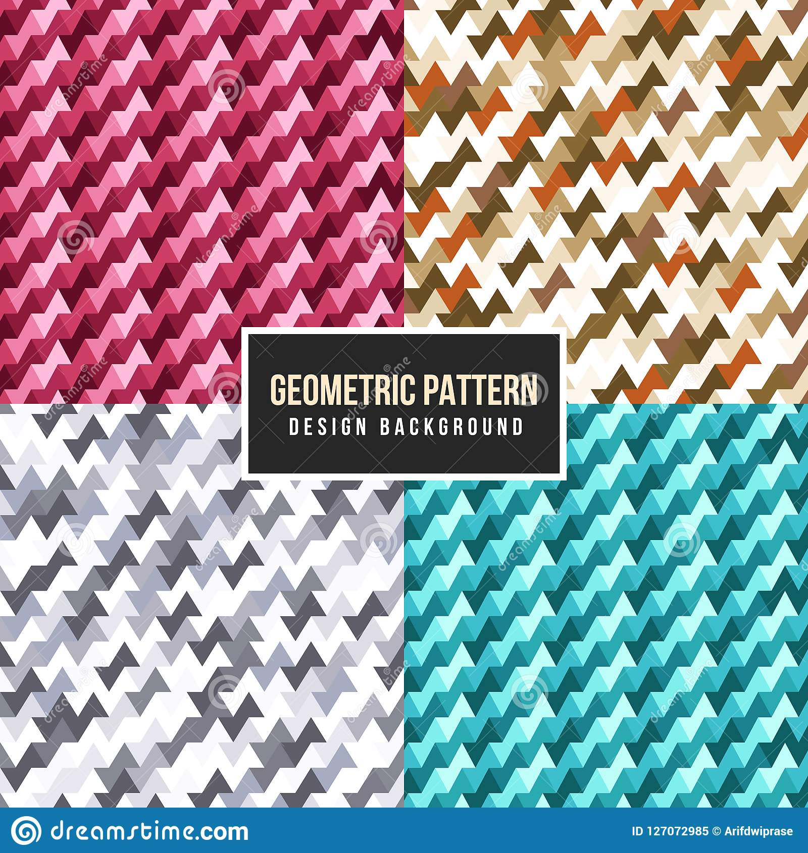 25 Creative Patchwork Tile Ideas Full Of Color And Pattern: Colorfull Vintage Abstract Geometric Pattern. Cartoon
