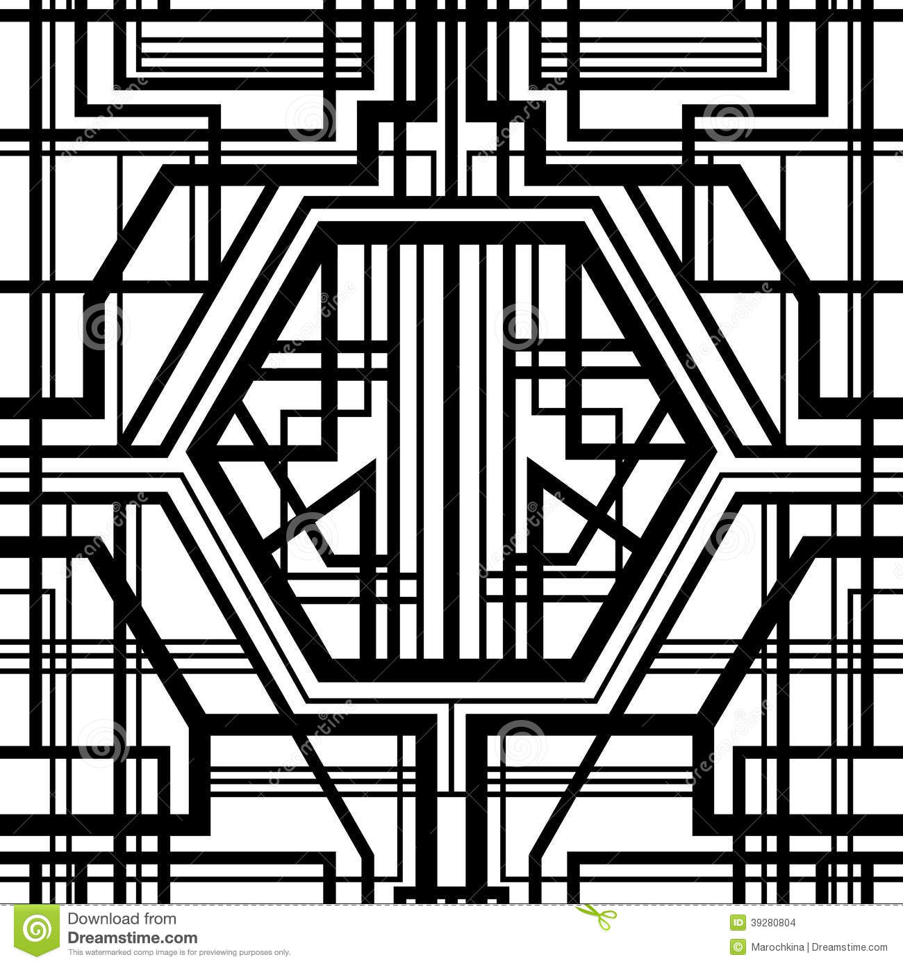 Seamless Geometric Pattern Stock Illustration Image Of Graphic 39280804