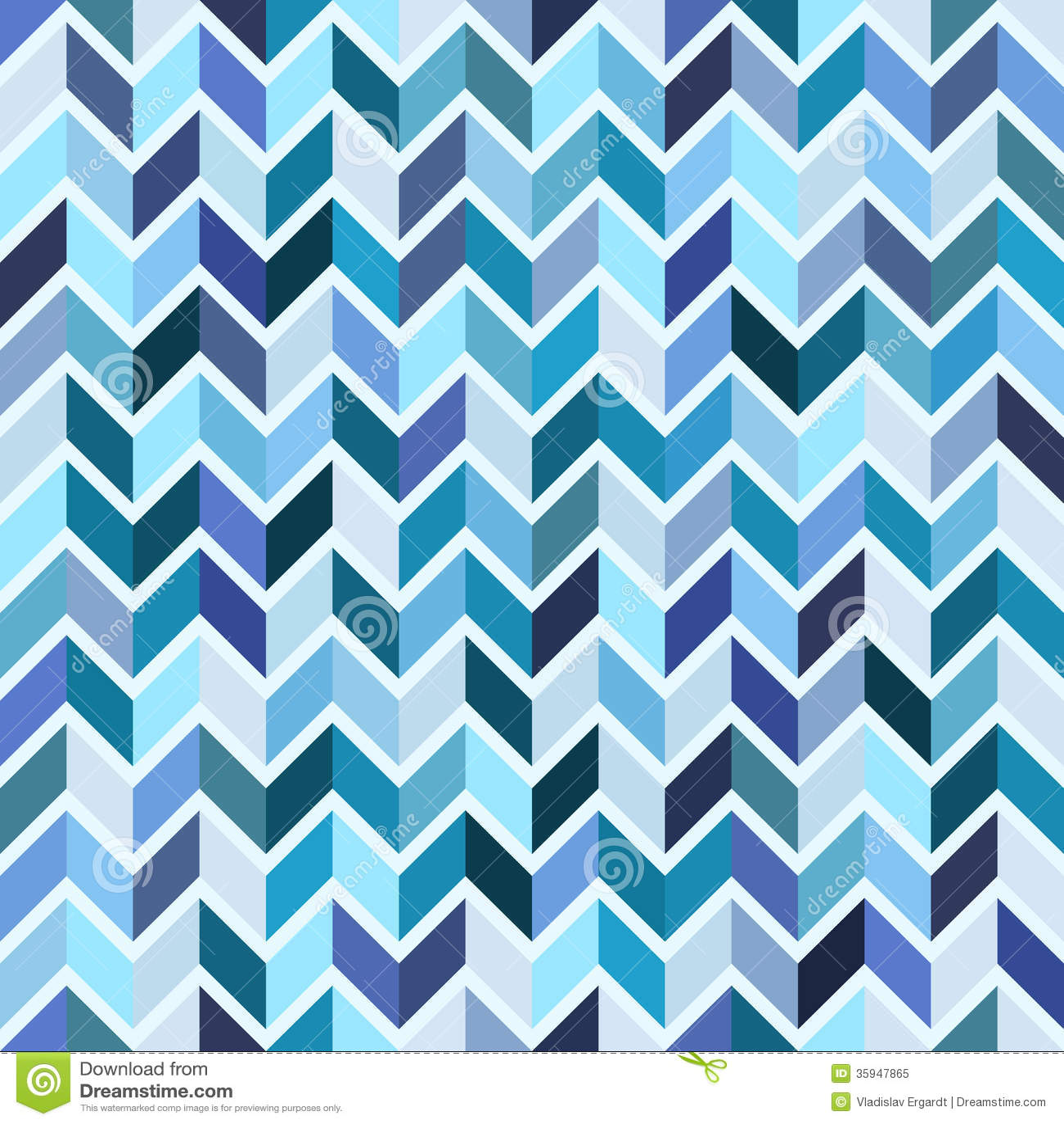 Teal chevron print background teal chevron background patterns - Seamless Geometric Pattern Blue Mosaic Royalty Free Stock