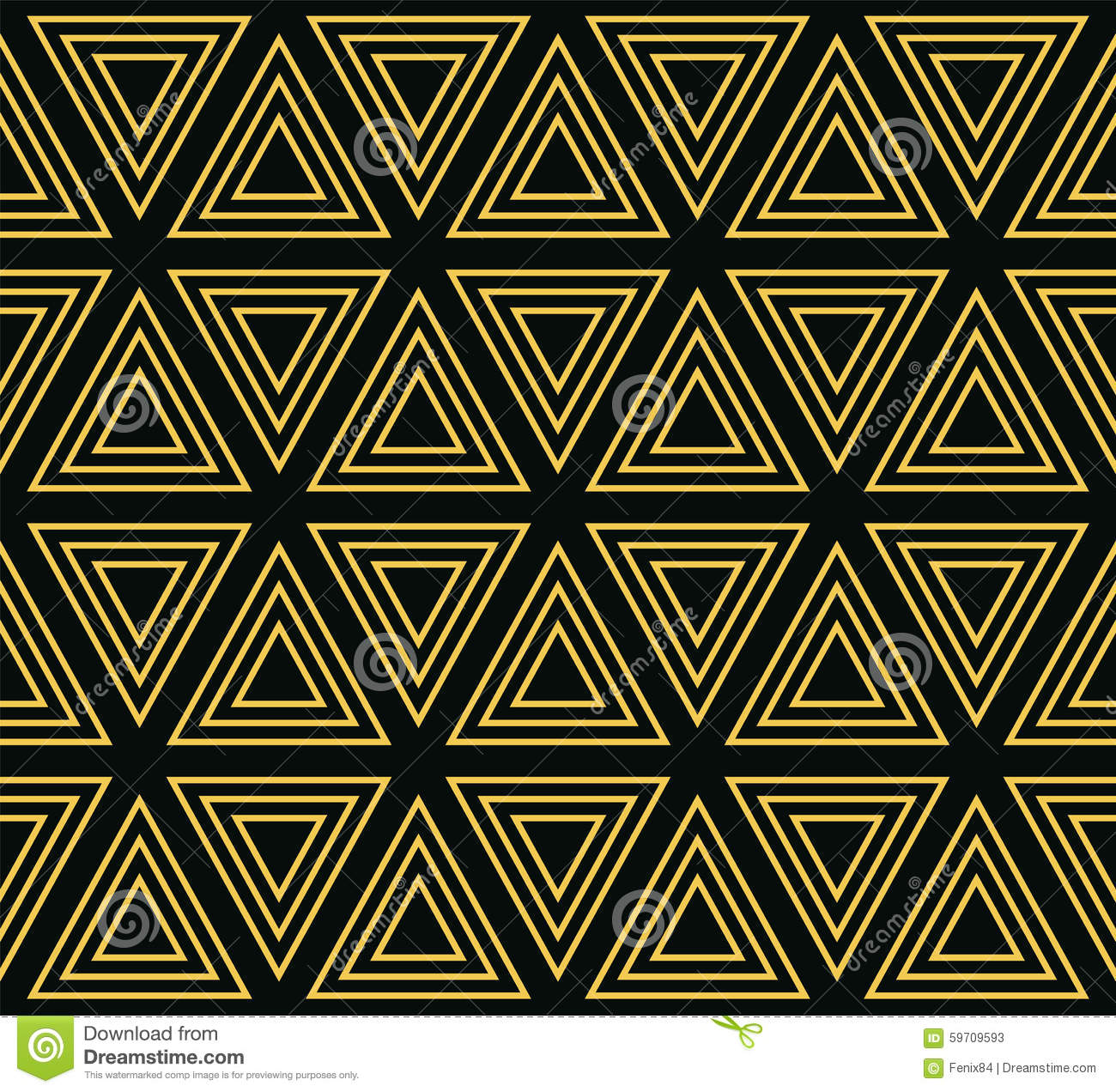 Seamless Geometric Pattern Of Concentric Triangles