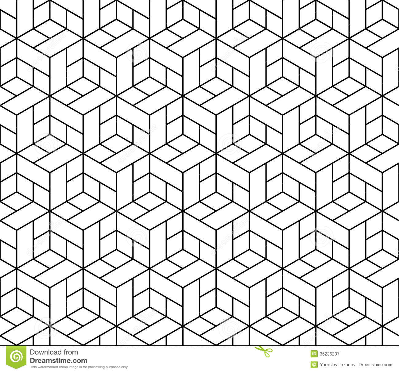 geometric cube seamless pattern.Fashion graphic design.Vector ...