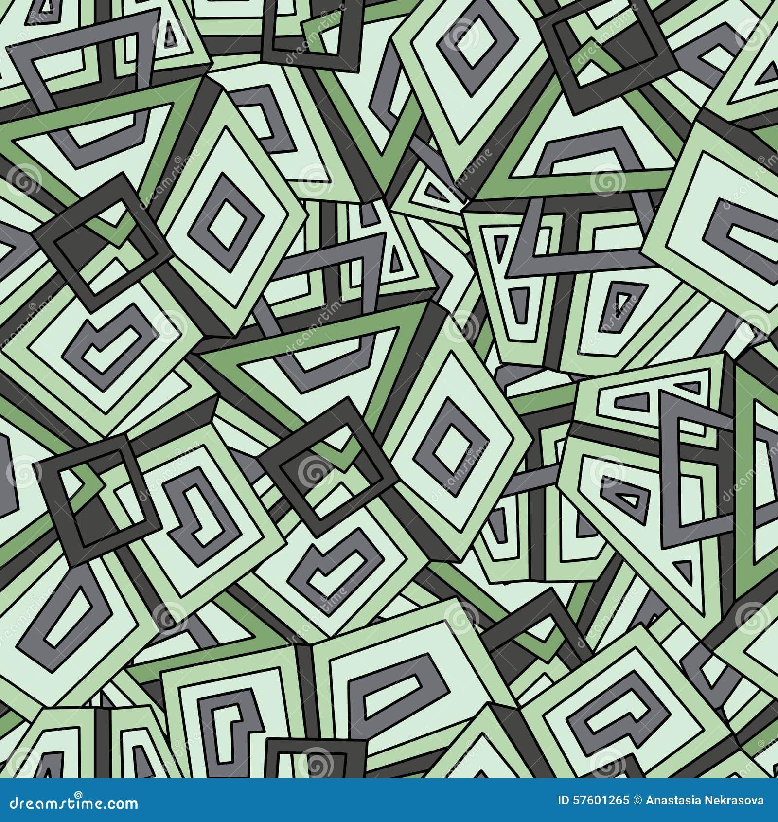 Seamless geometric pattern in dark green tones. Khaki. For fashion textile, cloth, backgrounds. Seamless pattern, background, text
