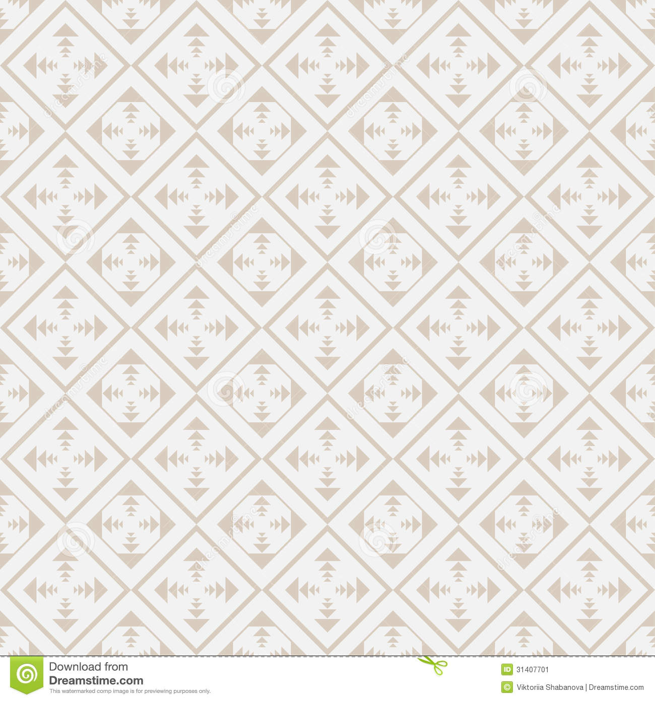 Seamless Geometric Pattern In Retro Style Soft Colors