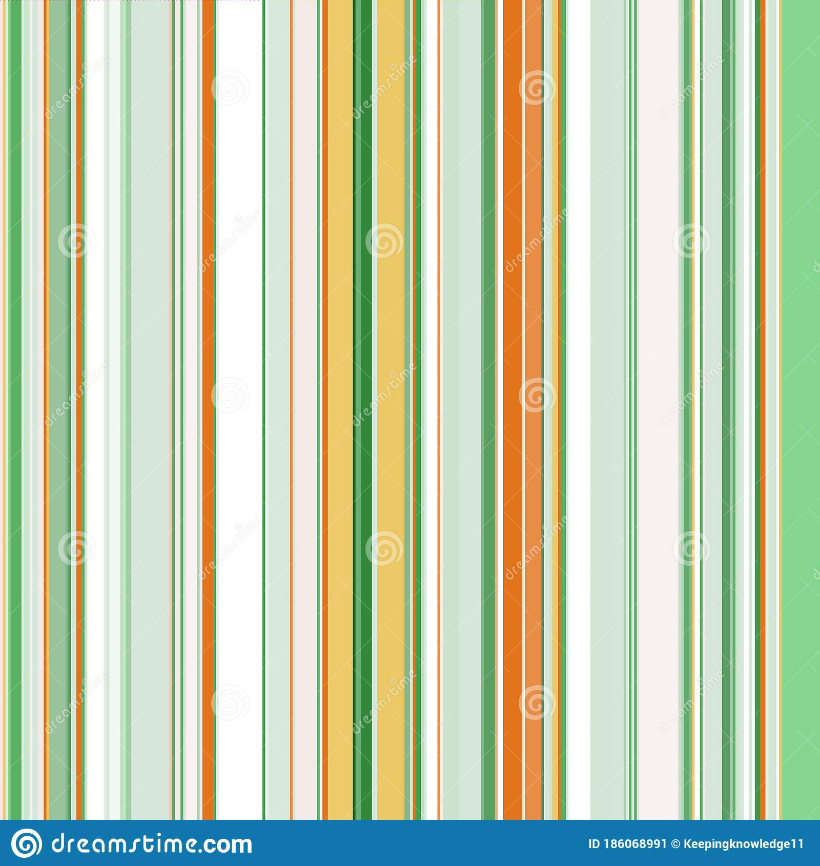 Seamless Geometric Print Of Vertical Stripes Of Different Widths Made In Various Shades Of Green Yellow And Orange Stock Vector Illustration Of Decor Fabric 186068991
