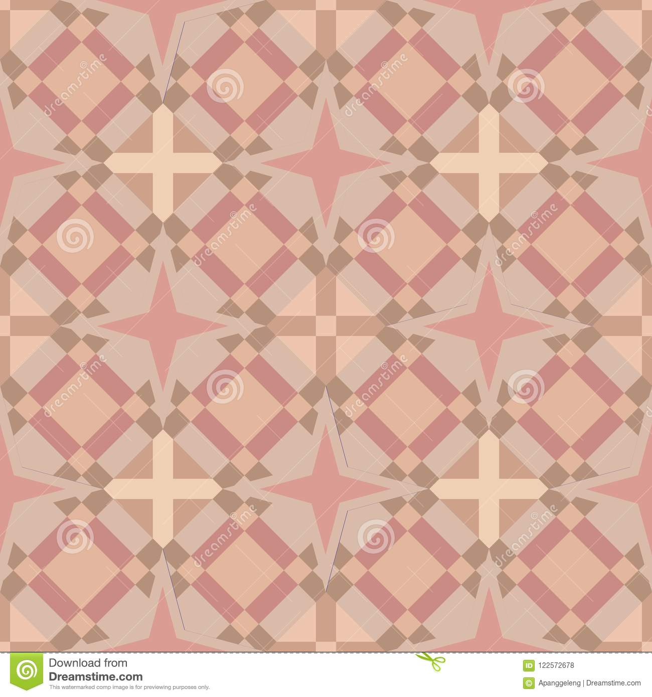 Seamless Geometric Square Tile Background in Soft Skin Colours