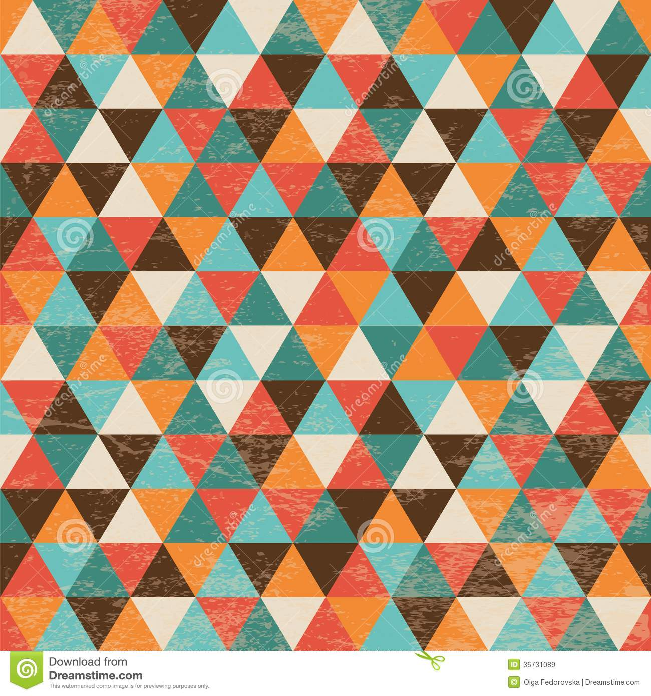 Seamless Geometric Triangle Background Royalty Free Stock