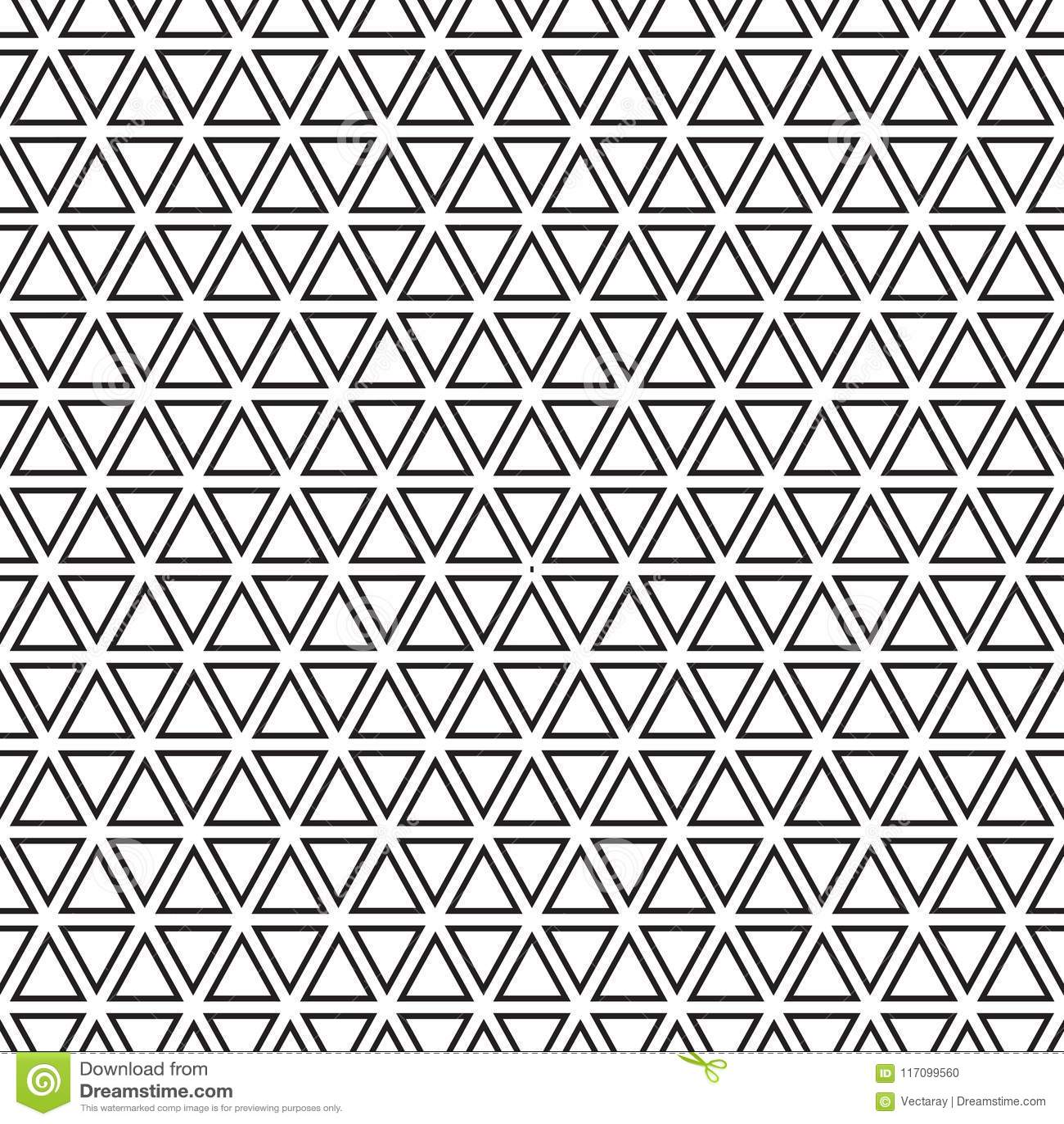 Seamless Geometric Triangle Pattern Background Stock Illustration