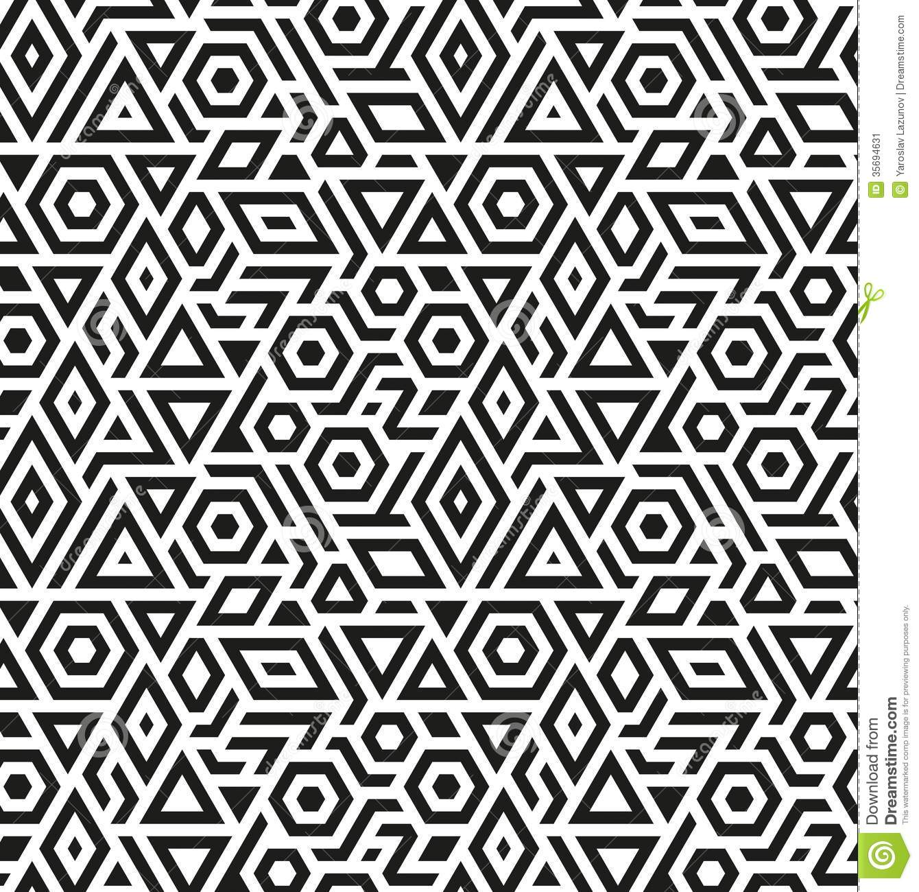 Seamless Geometric Vector Pattern Background Stock Image - Image ...