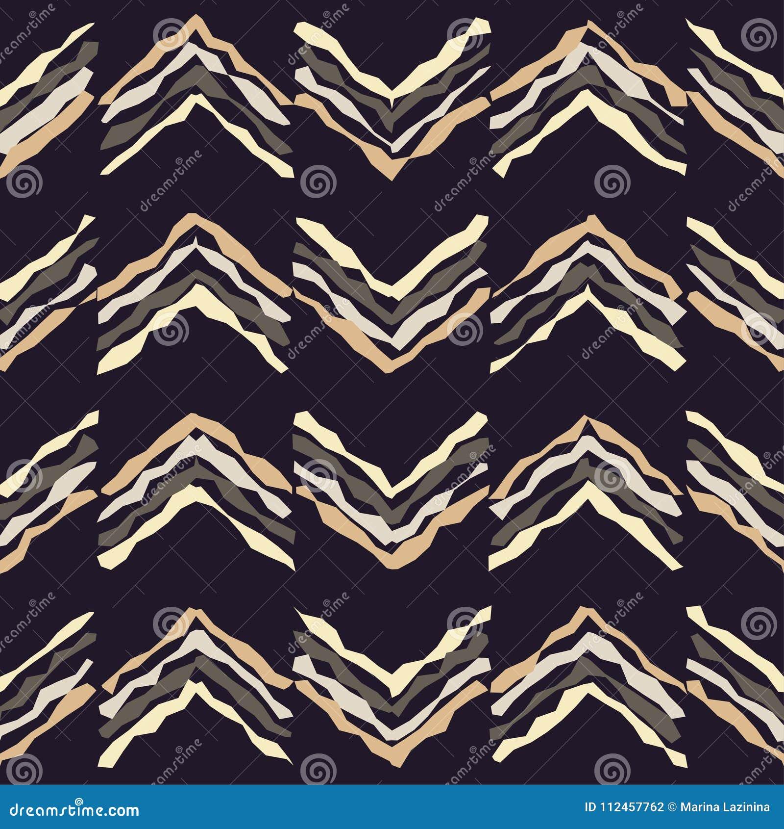 Seamless geometrisk modell Textur av virvlande runt band Klottra textur