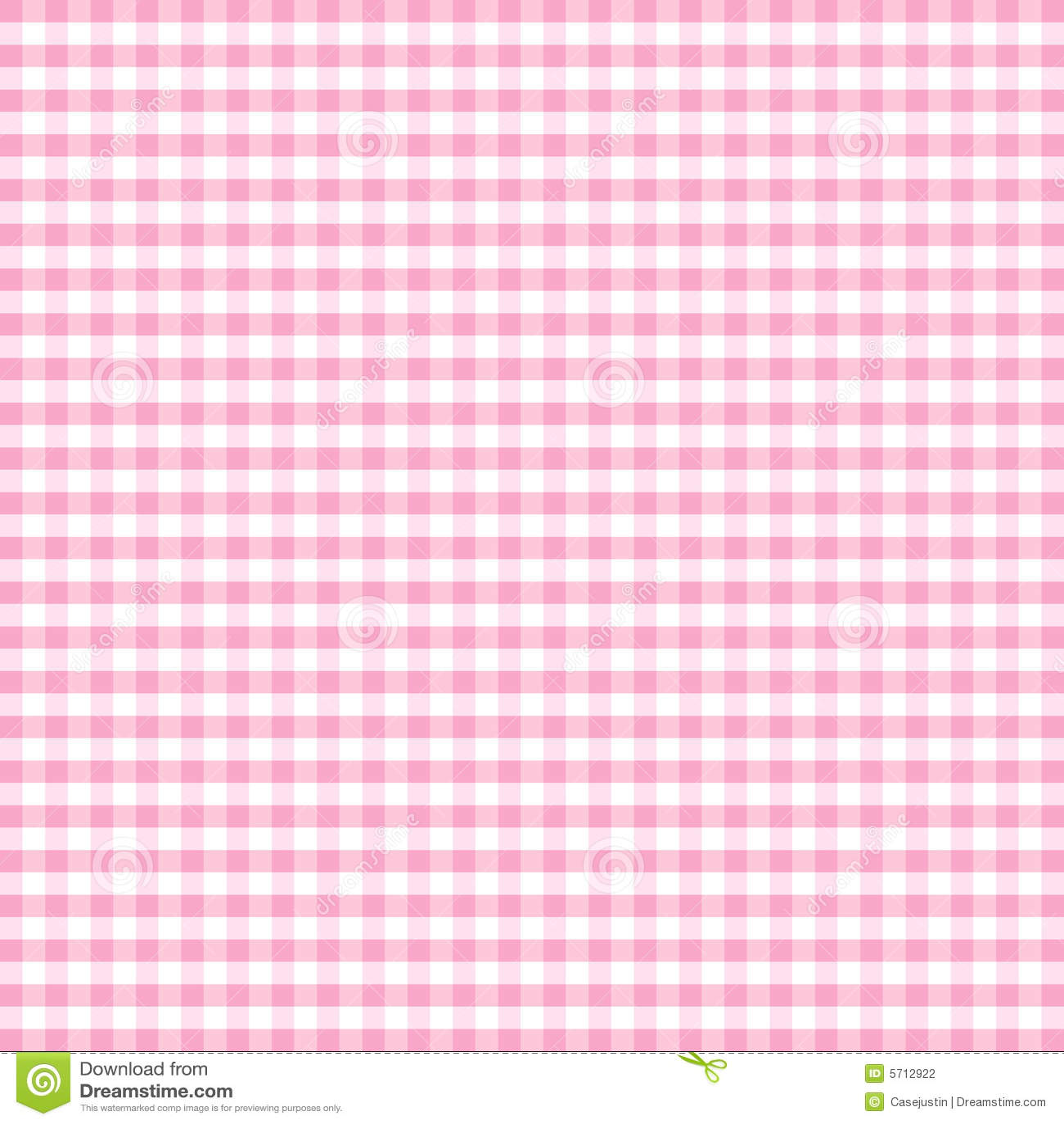 Seamless Gingham Background, Pastel Pink