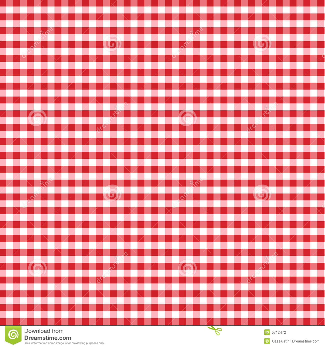 Seamless Gingham Background, Red