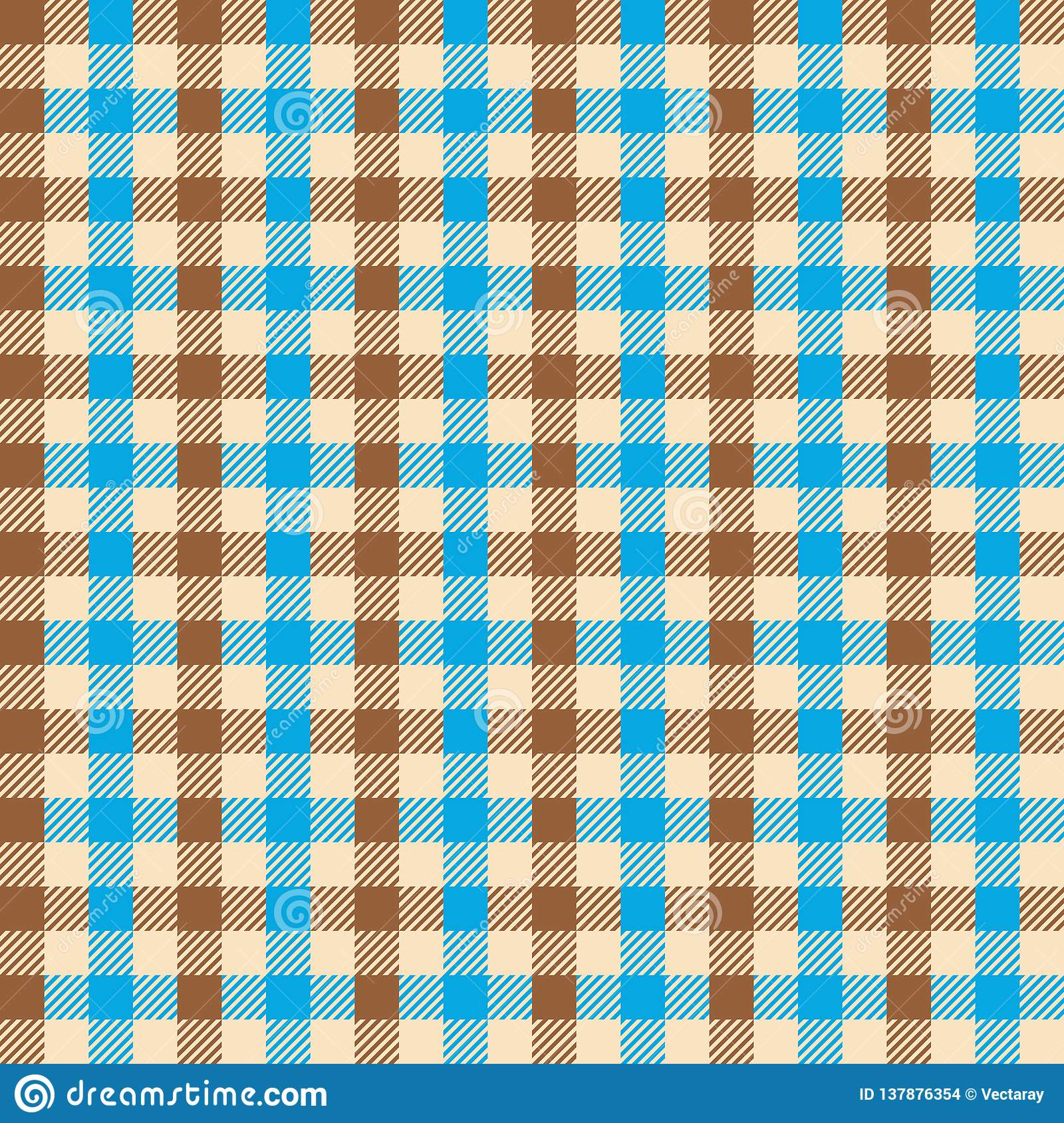 Seamless gingham vintage fabric textile pattern. Gingham check background.
