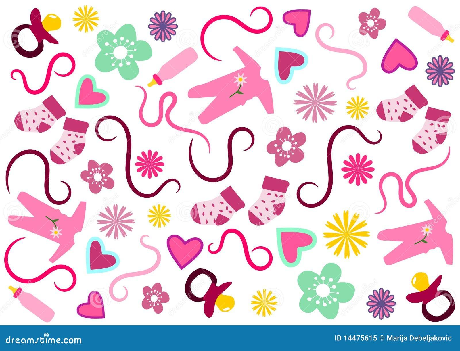 seamless girly background stock illustration illustration girly cliparts for baby shower girly cliparts for baby shower
