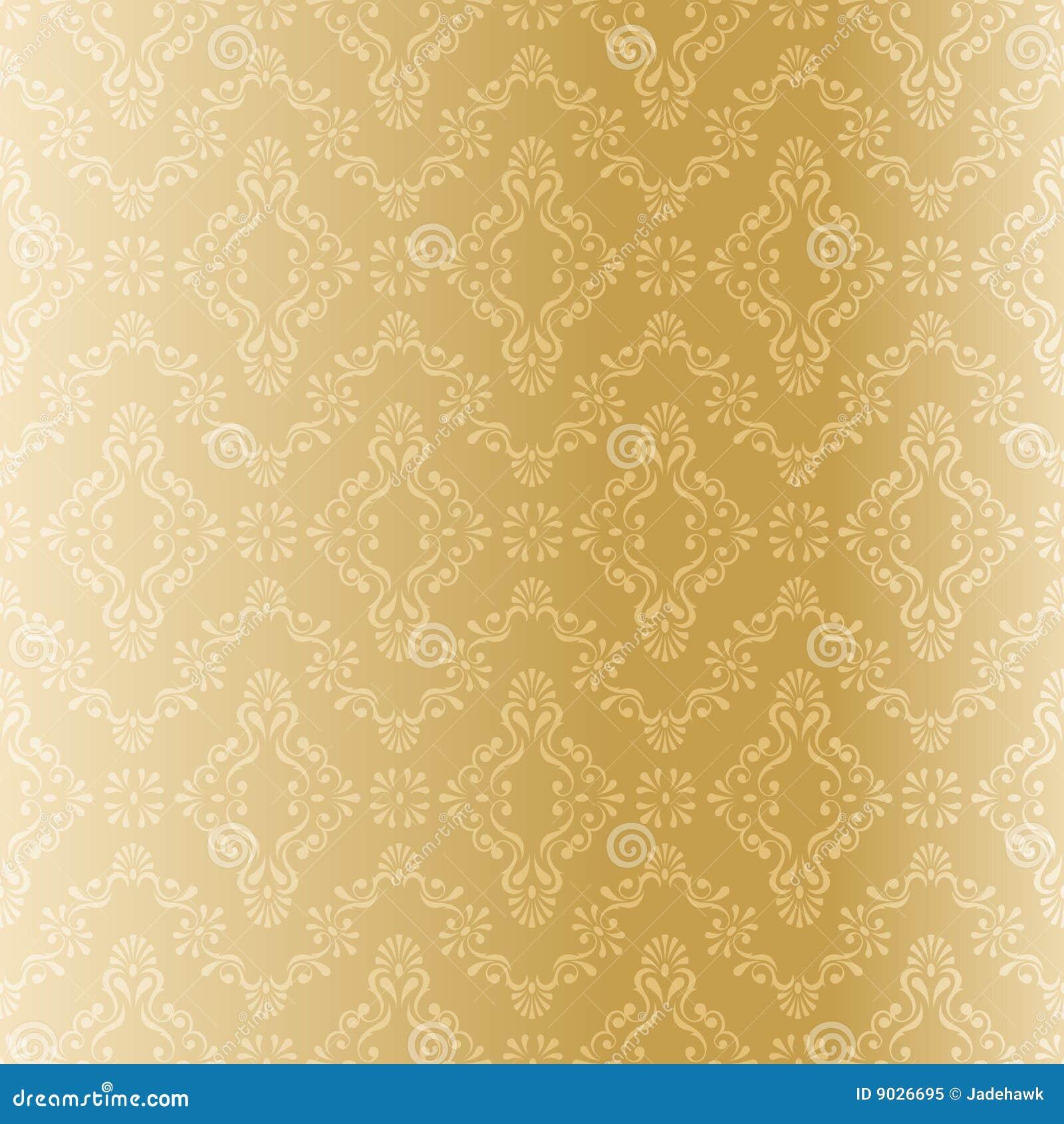 Seamless Gold Filigree Pattern Royalty Free Stock Photo ...