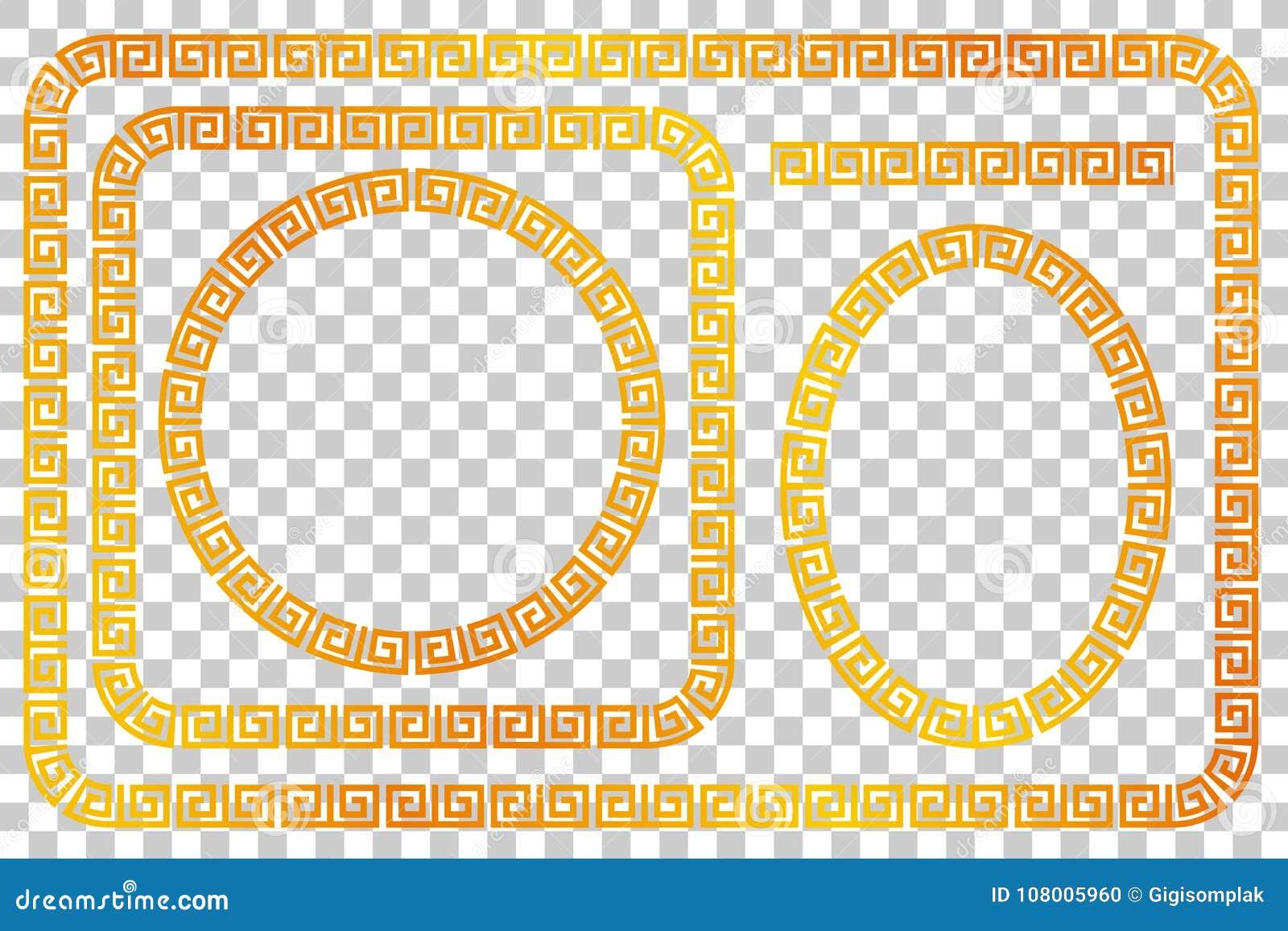 Seamless Golden Frame For Certificate, Placard Go Xi Fat Cai / Imlek ...