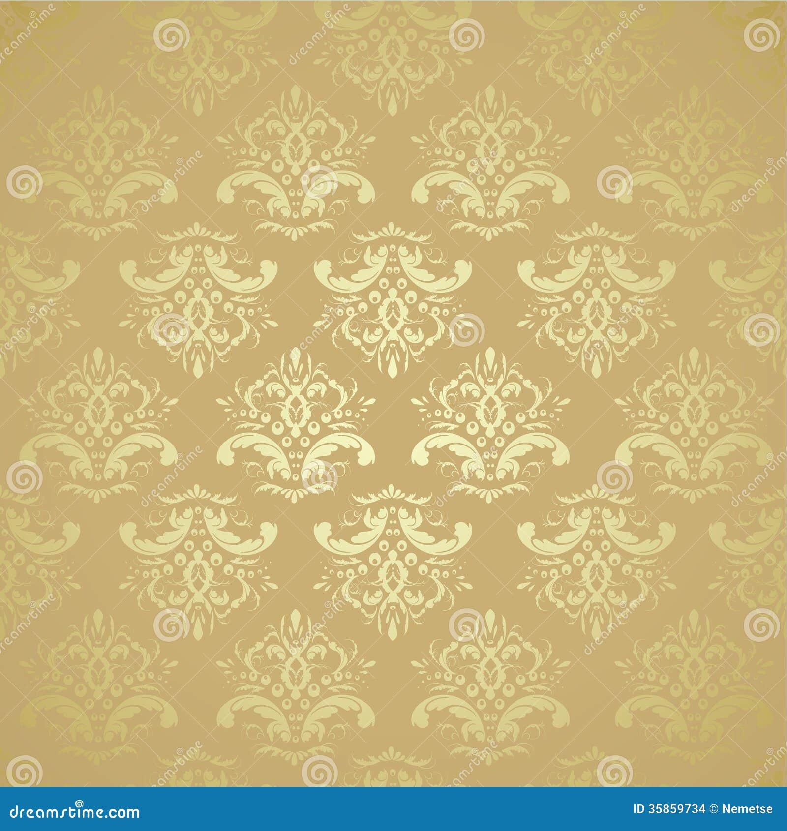 Seamless Golden Pattern Stock Vector Illustration Of Ancient