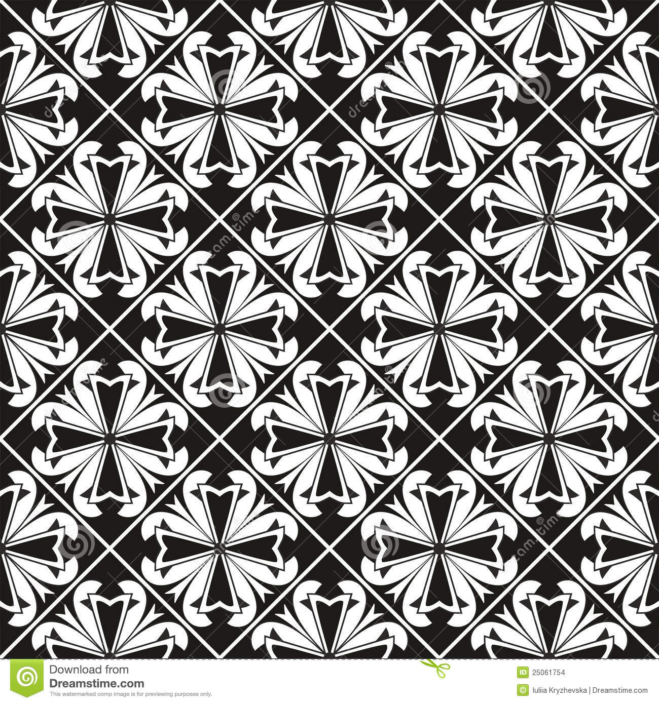 Seamless gothic floral pattern with crossGothic Floral Pattern