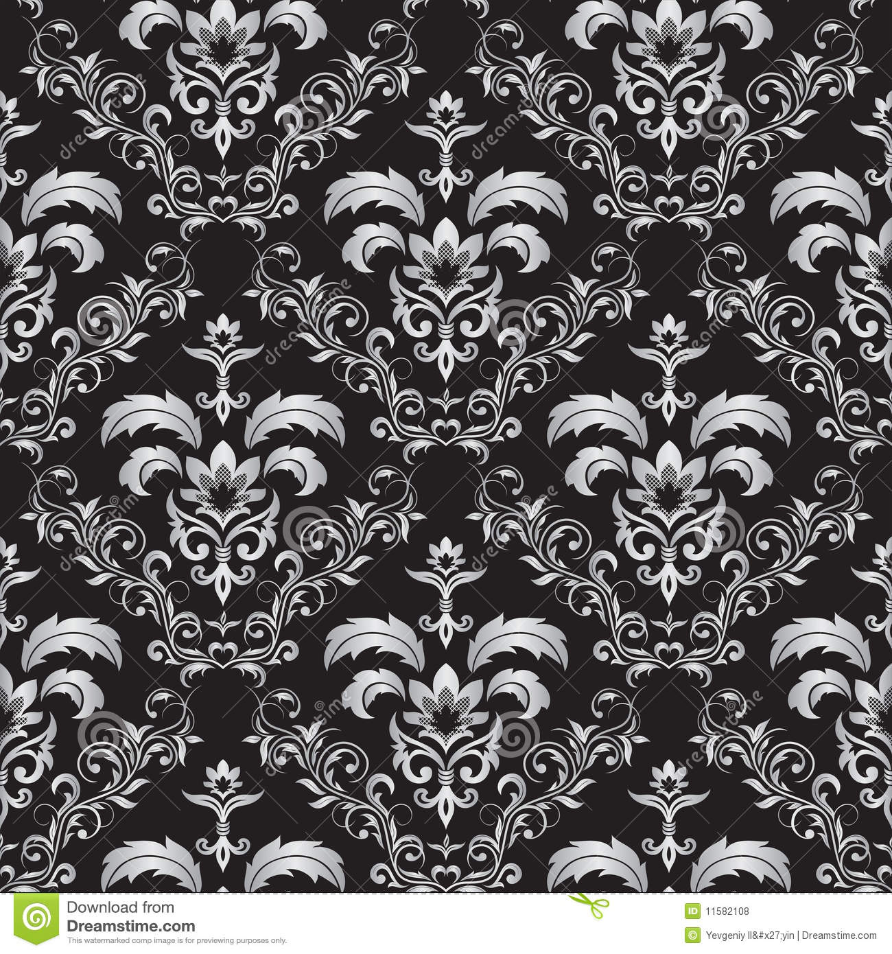 Gothic Pattern Wallpaper seamless gothic ornament royalty free stock photos - image: 11582108