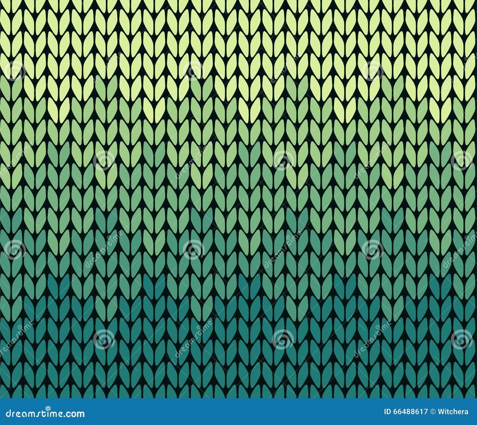 seamless gradient knitting pattern stock vector