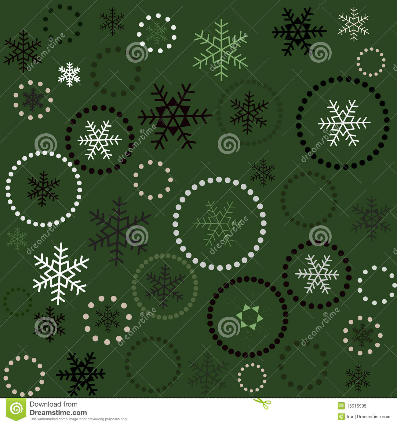 seamless green christmas background stock vector