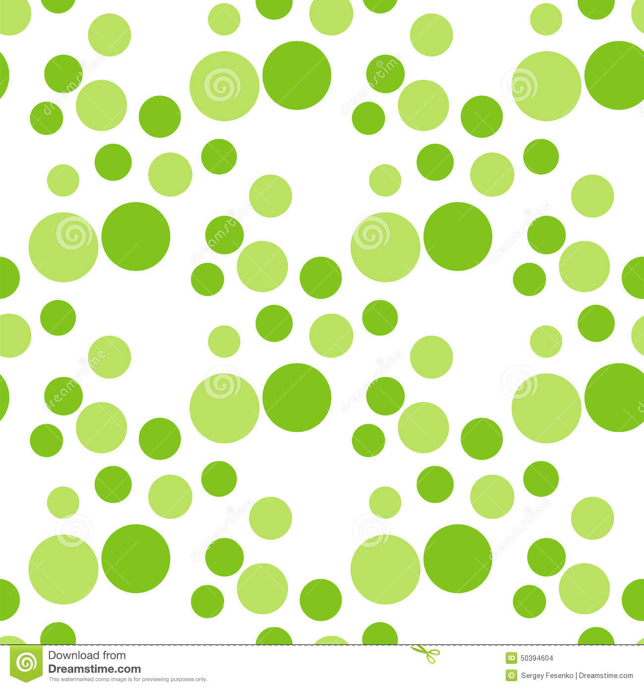 Seamless Green Circle Peas Pattern. Stock Vector - Image