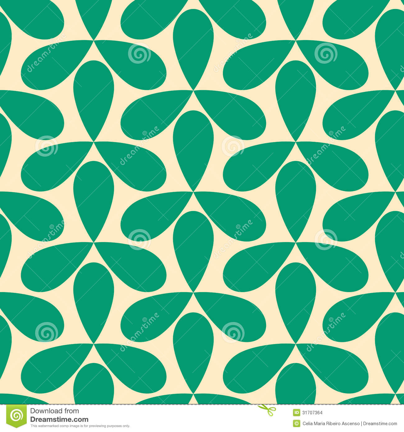 Seamless Green Helices Geometric Pattern Stock Images