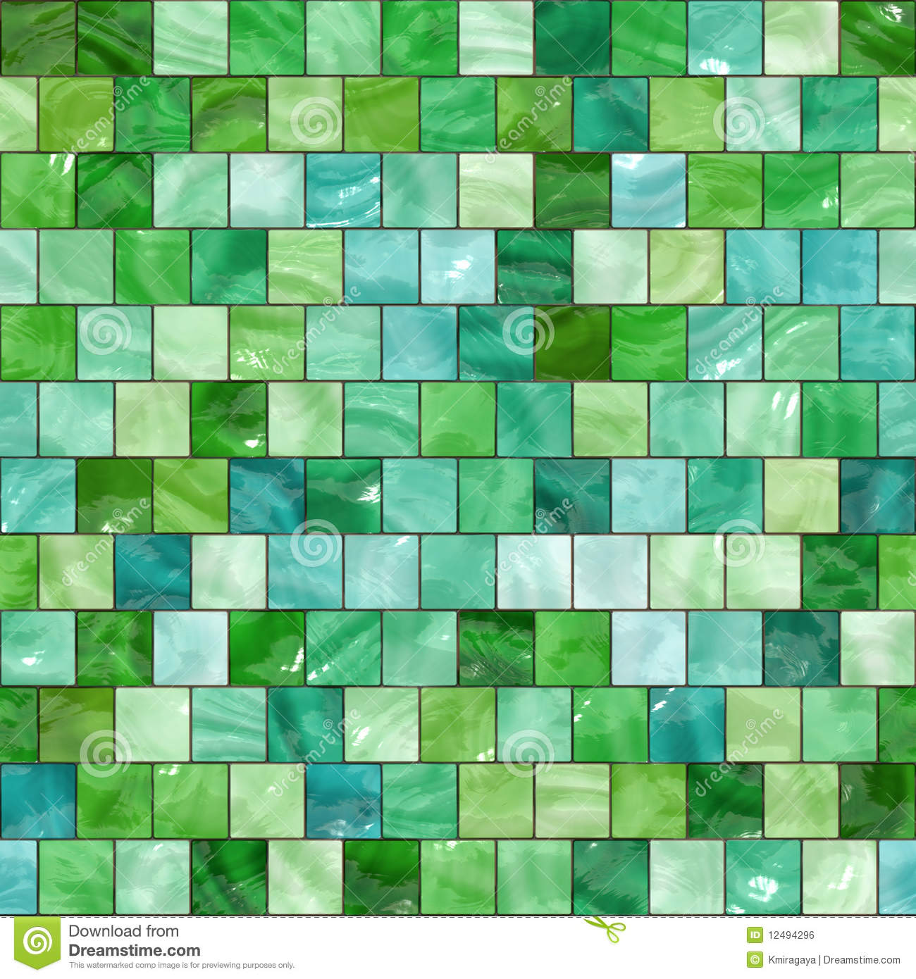 Seamless Green Tiles Texture Royalty Free Stock Image ...