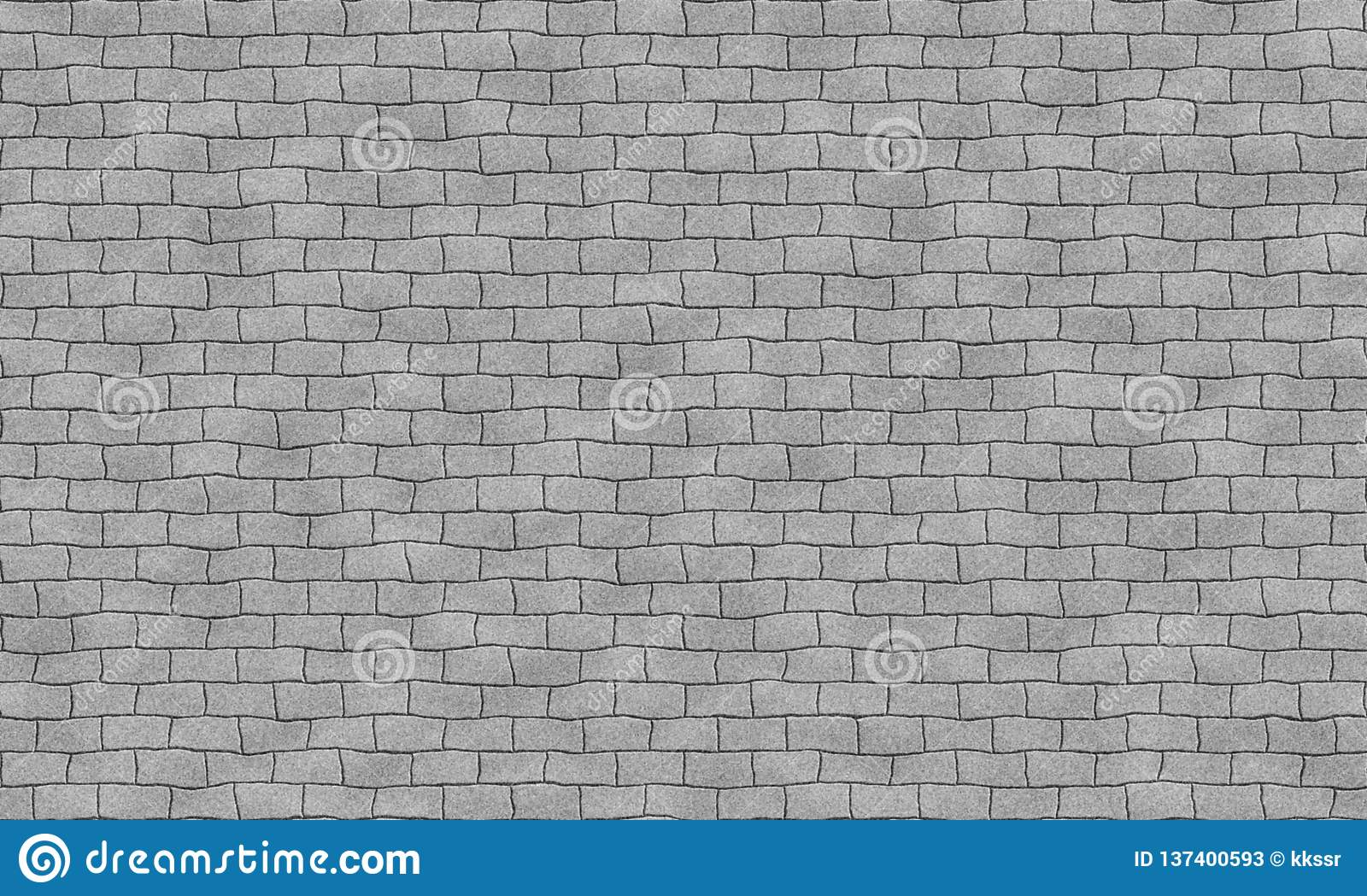 Seamless grey brick wall tile able pattern. Uneven shape. For interior, exterior render material mapping.