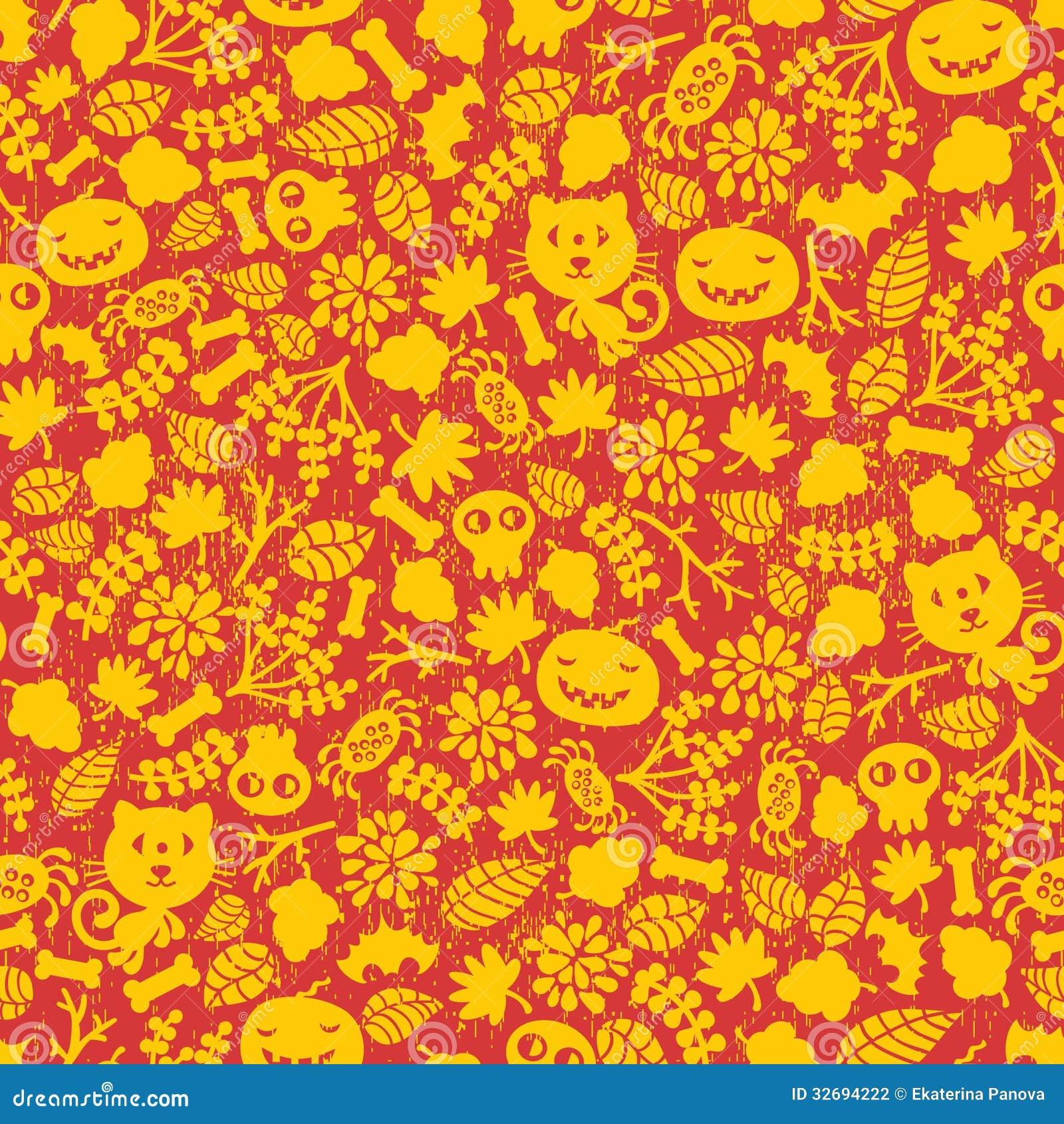 Seamless Halloween Background. Stock Vector - Illustration of ...